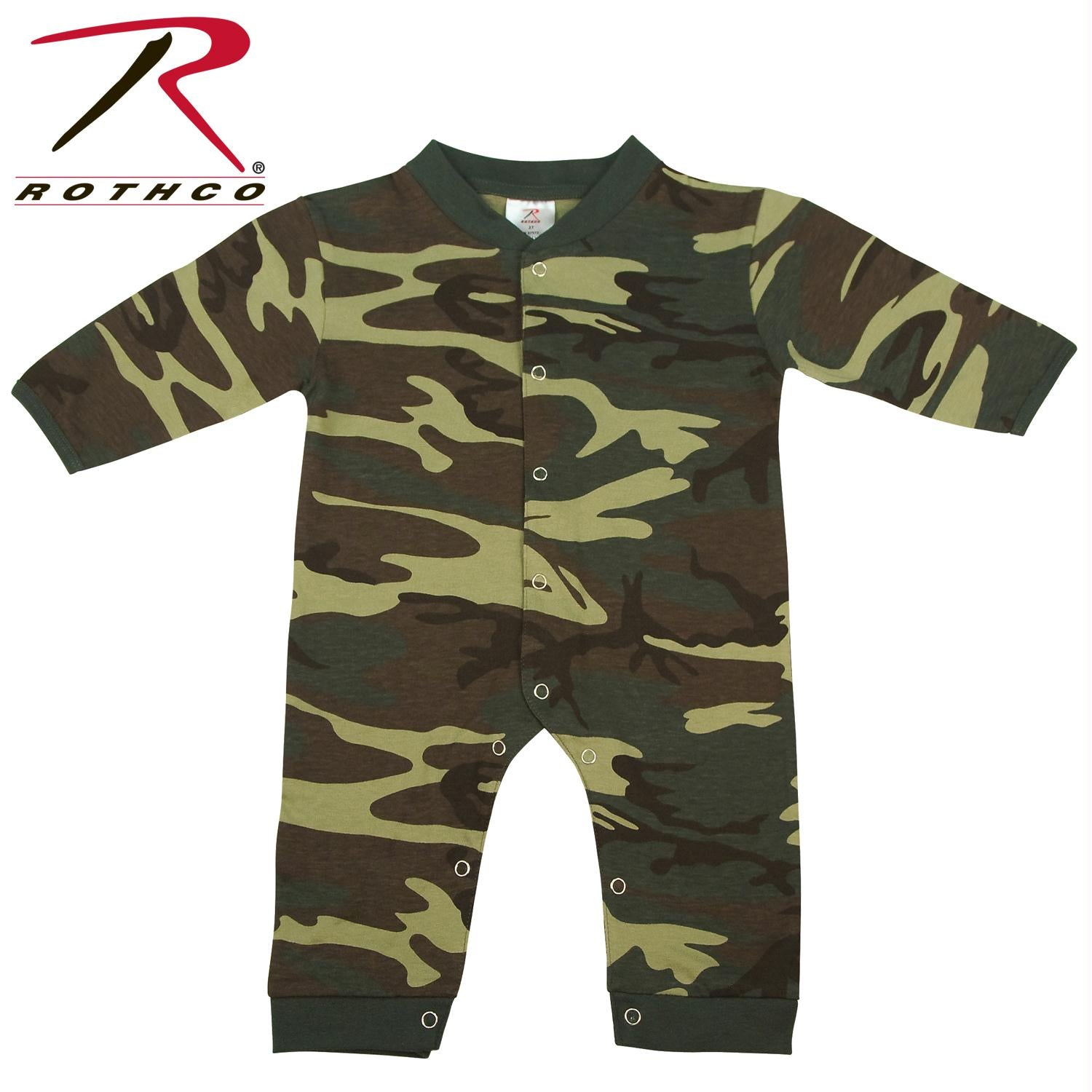 Rothco Infant Camo Long Sleeve and Leg One-piece Bodysuit - Woodland Camo / 9-12 Months