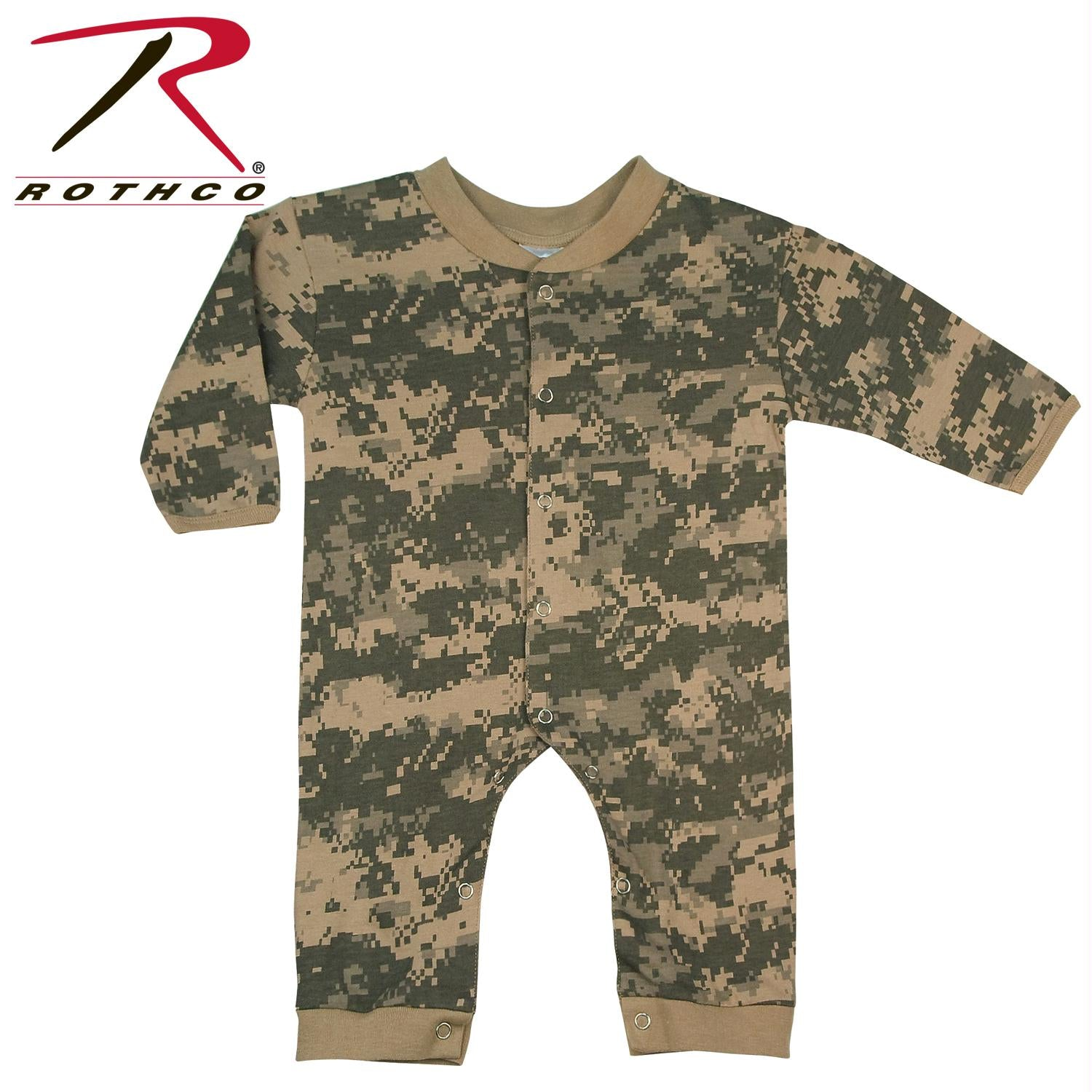 Rothco Infant Camo Long Sleeve and Leg One-piece Bodysuit - ACU Digital Camo / 9-12 Months