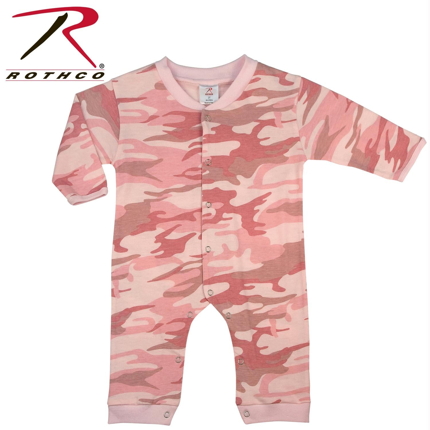 Rothco Infant Camo Long Sleeve and Leg One-piece Bodysuit - Pink Camo / 2T