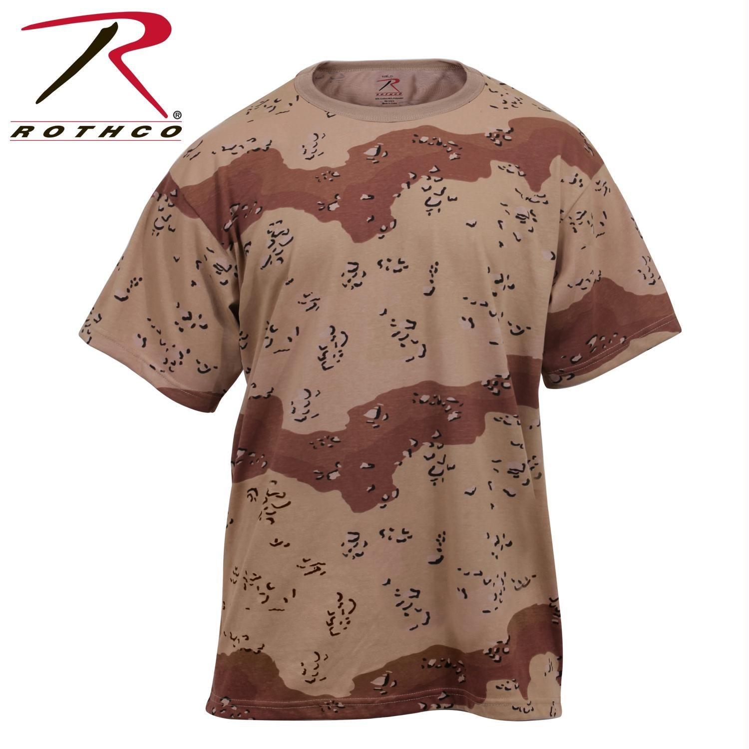Rothco Camo T-Shirts - 6-Color Desert Camo / XL