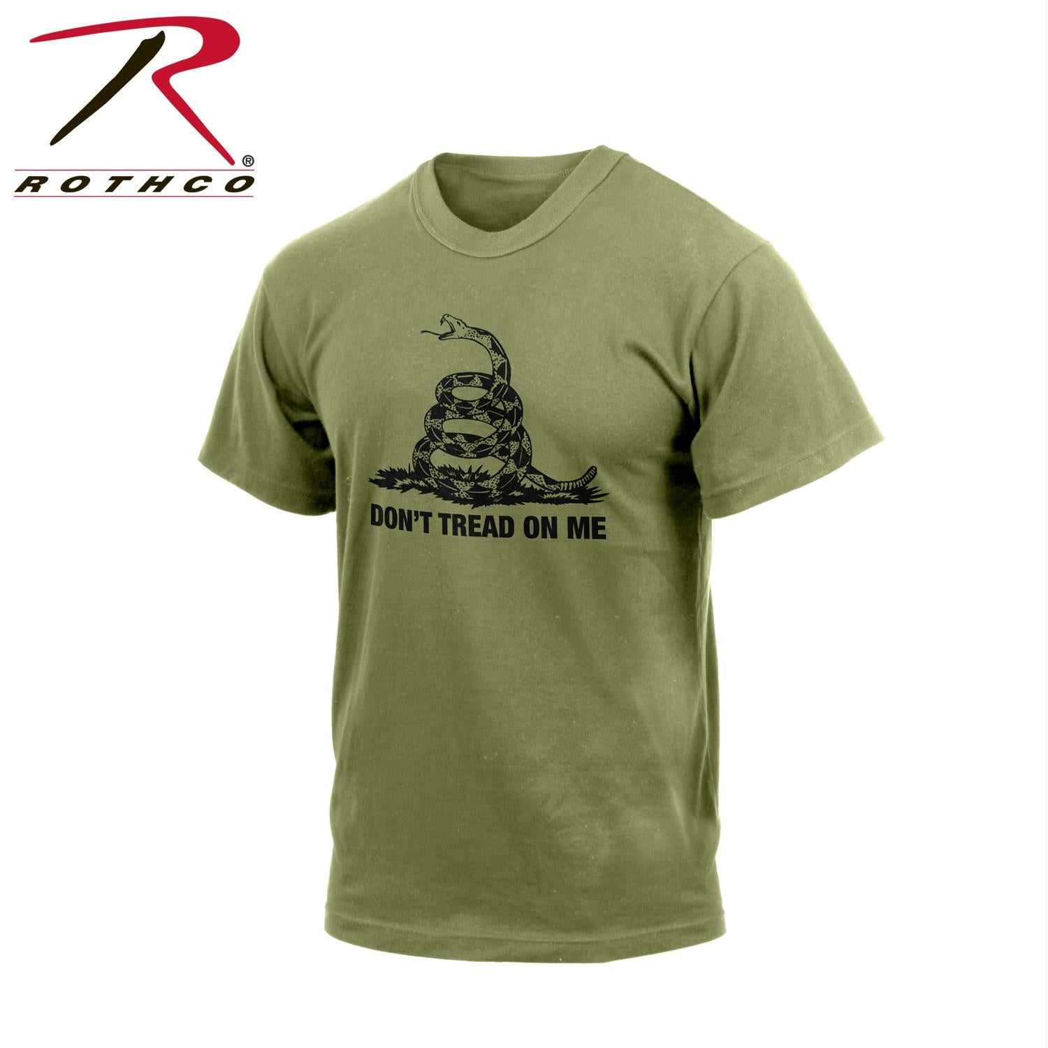 Rothco Don't Tread On Me Vintage T-Shirt - Olive Drab / XL
