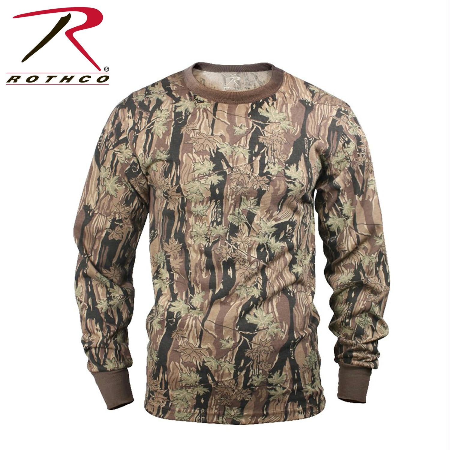 Rothco Long Sleeve Camo T-Shirt - Smokey Branch Camo / 3XL