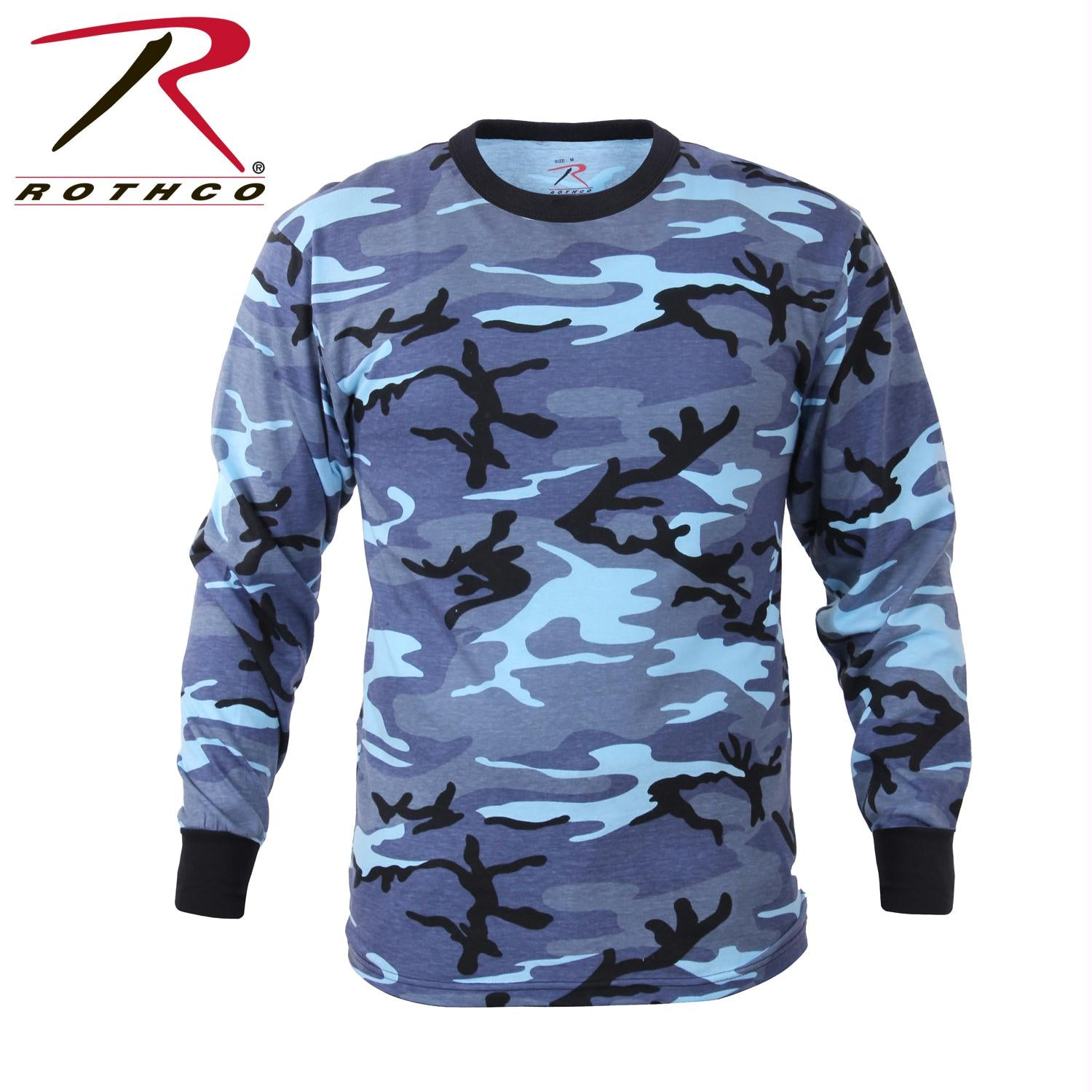 Rothco Long Sleeve Colored Camo T-Shirt - Sky Blue Camo / XL