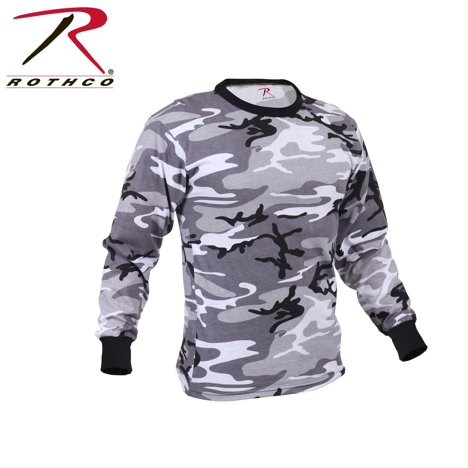 Rothco Long Sleeve Colored Camo T-Shirt - City Camo / S