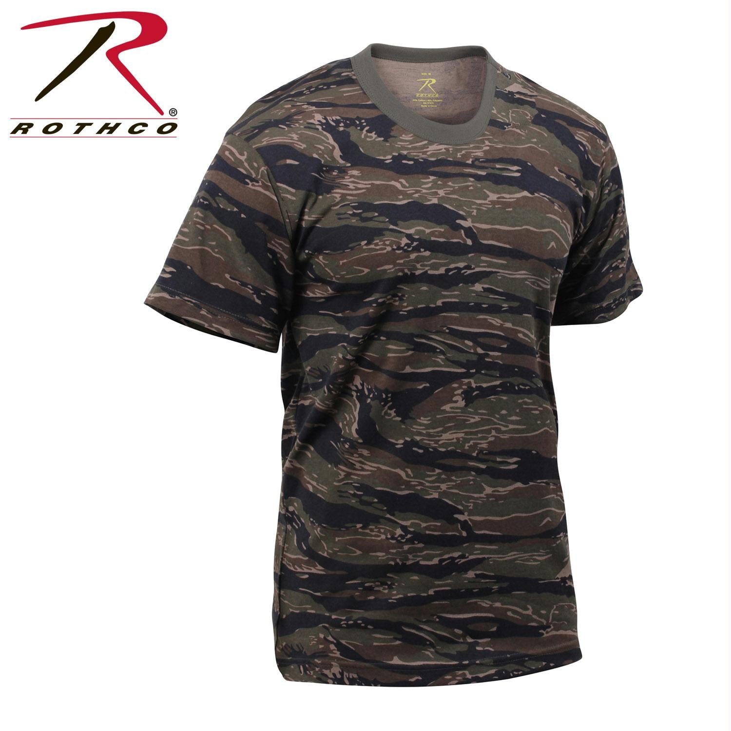 Rothco Tiger Stripe Camo T-Shirts - Tiger Stripe Camo / 4XL