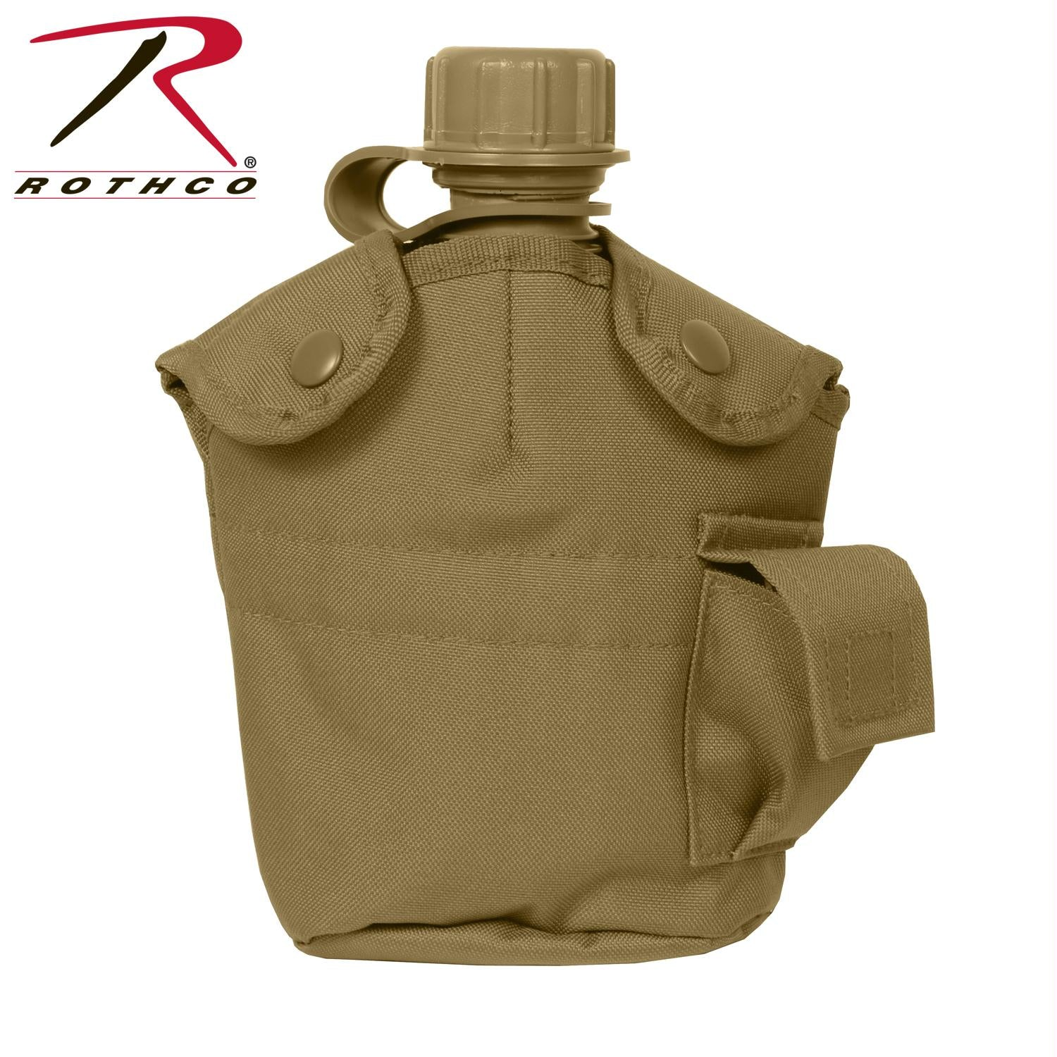Rothco GI Style MOLLE Canteen Cover - Coyote Brown