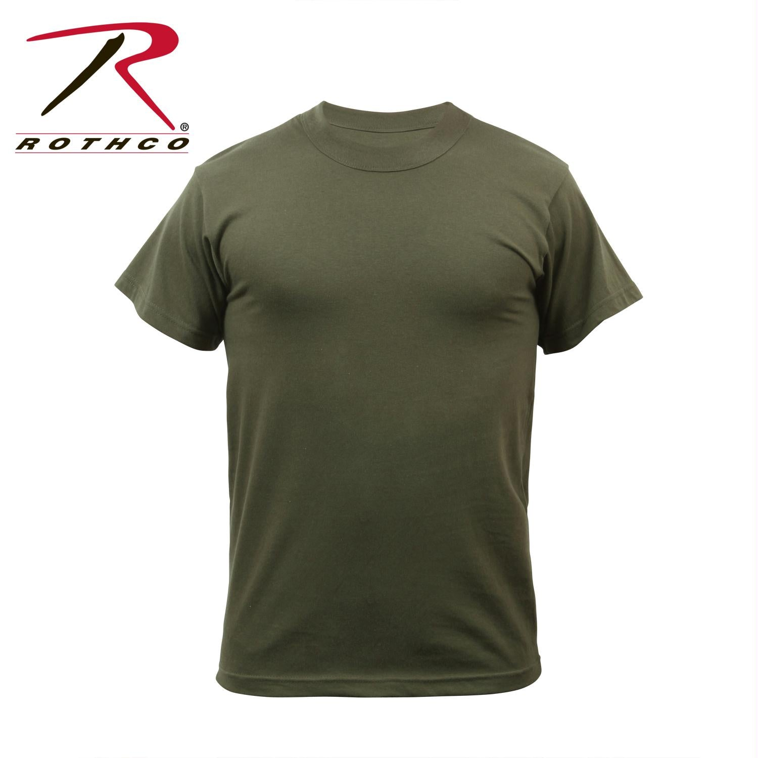 Rothco Solid Color Poly/Cotton Military T-Shirt - Olive Drab / M