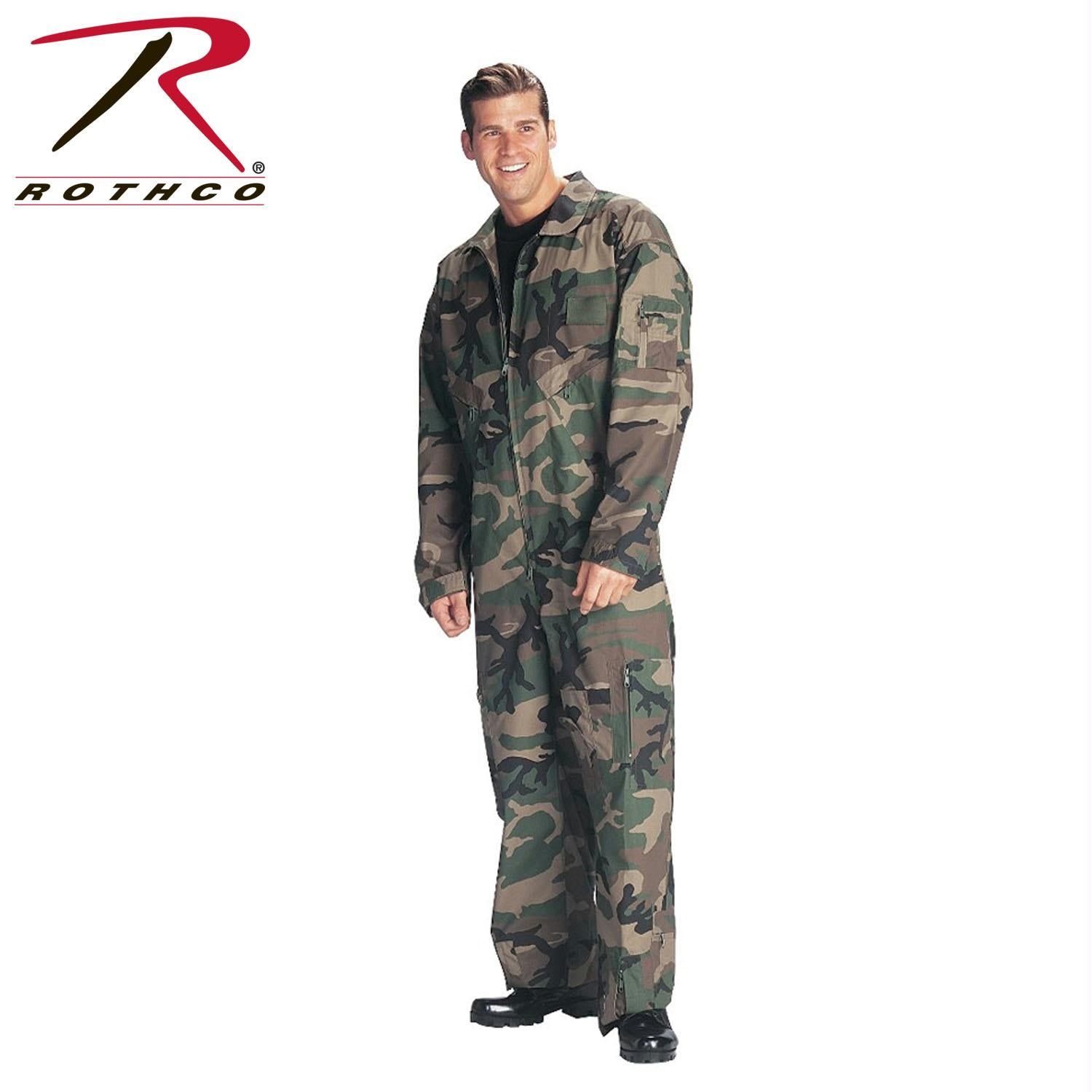 Rothco Flightsuits - Woodland Camo / M