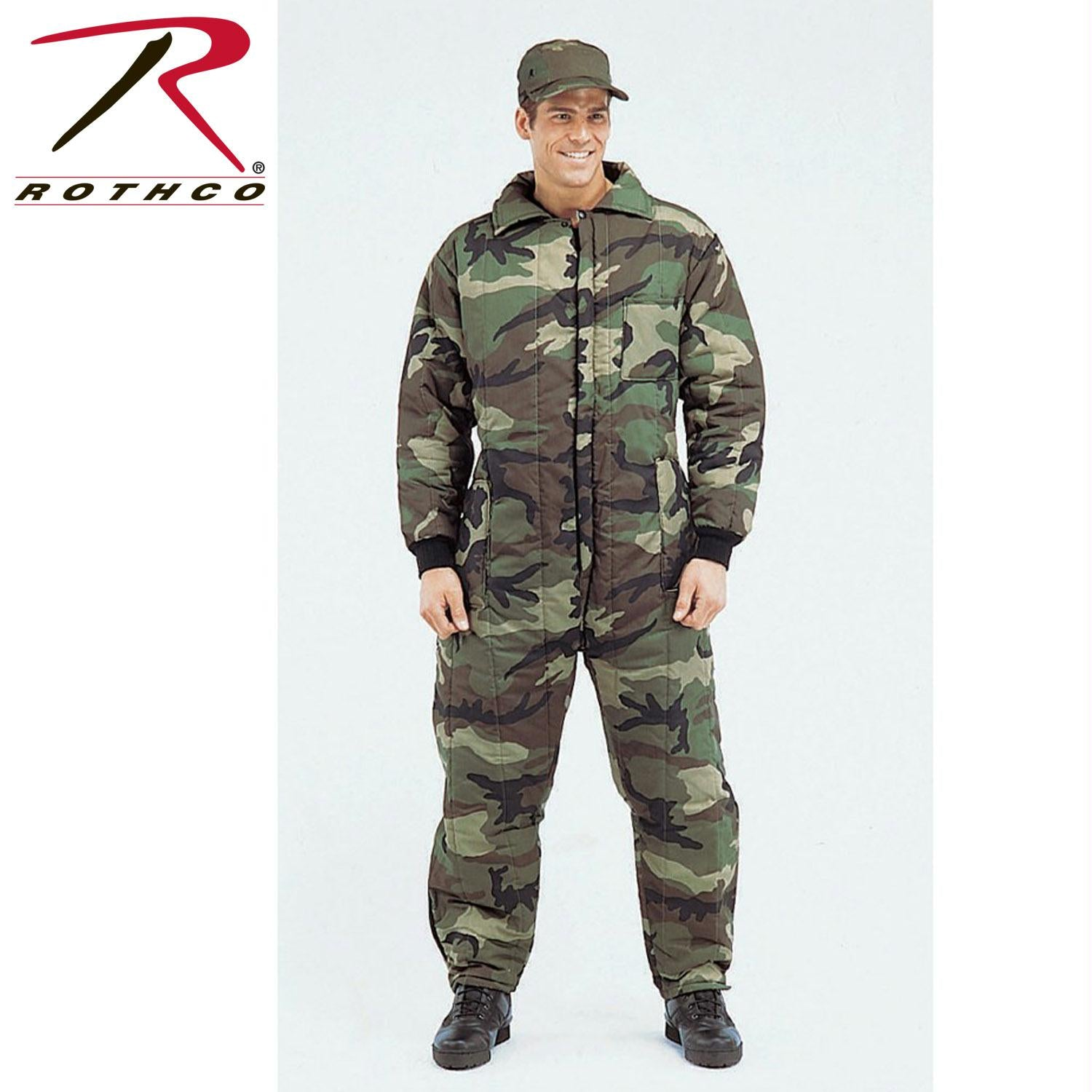 Rothco Insulated Coveralls - Woodland Camo / XL