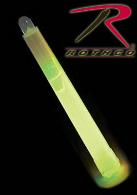 Rothco Glow In The Dark Chemical Lightsticks - Green