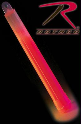 Rothco Glow In The Dark Chemical Lightsticks - Red