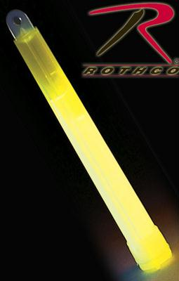Rothco Glow In The Dark Chemical Lightsticks - Yellow