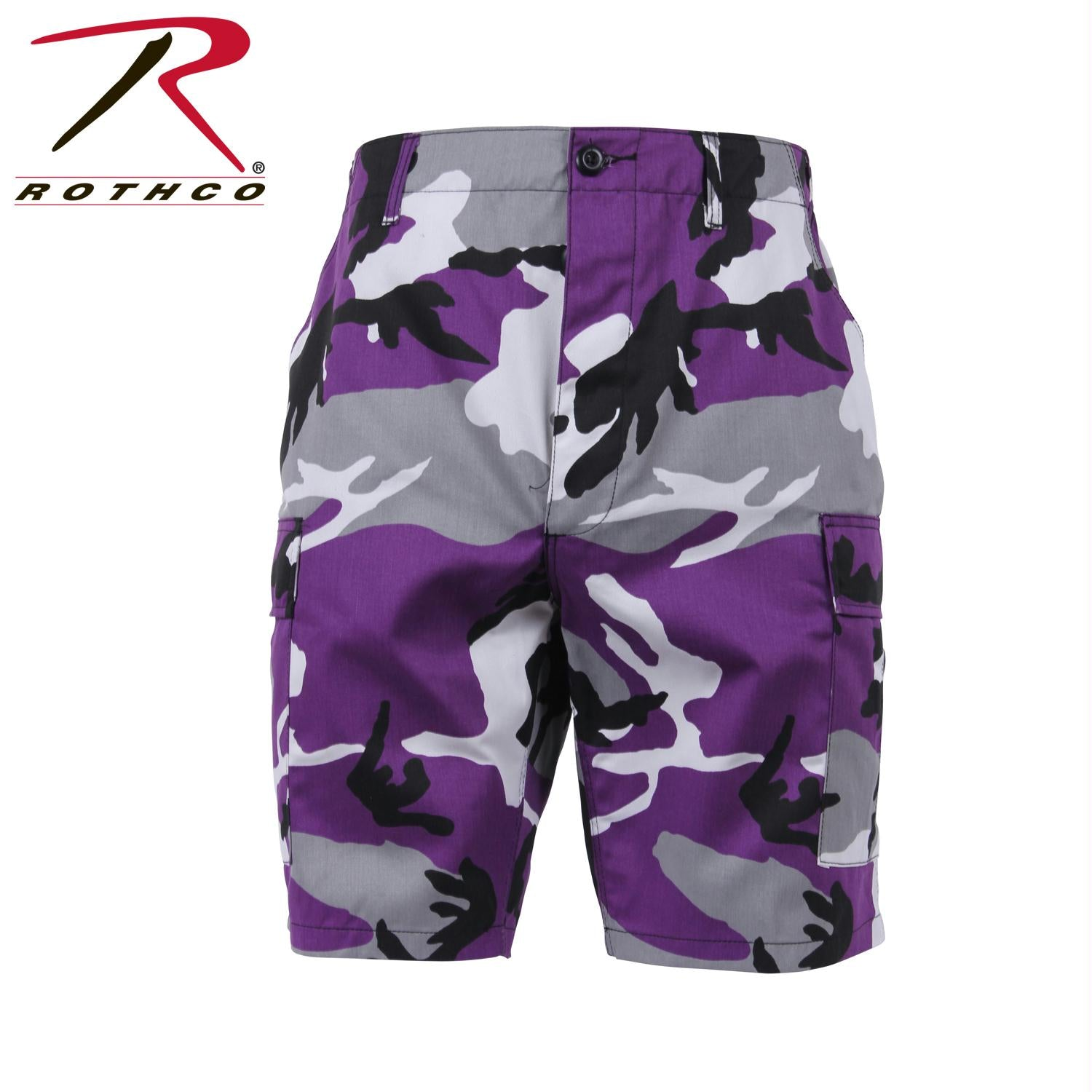 Rothco Colored Camo BDU Shorts - Ultra Violet Camo / M