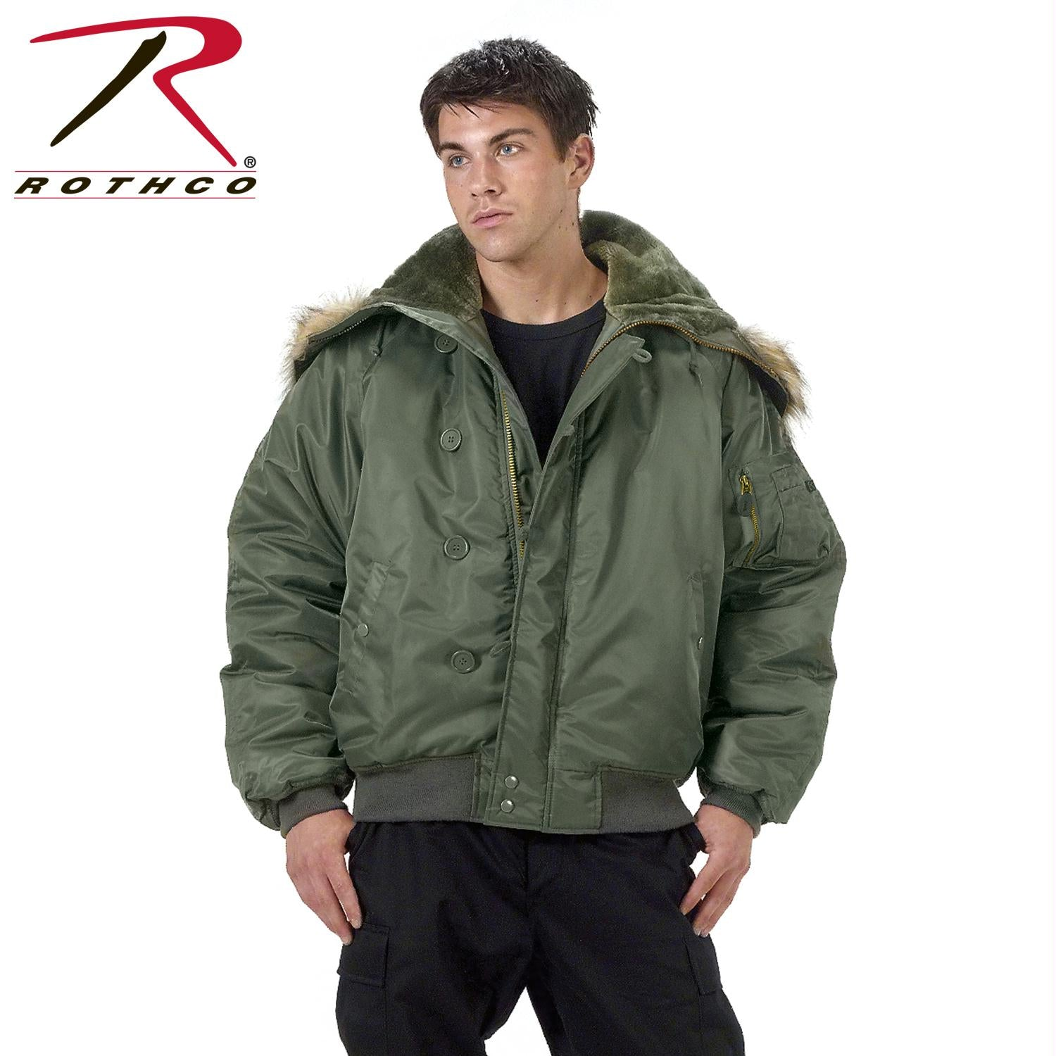 Rothco N-2B Flight Jacket - Sage Green / S