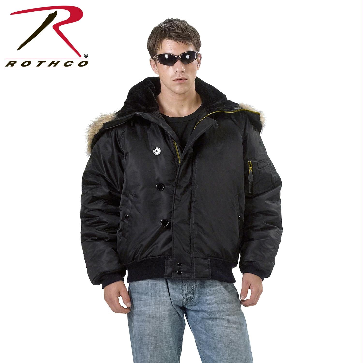 Rothco N-2B Flight Jacket - Black / L