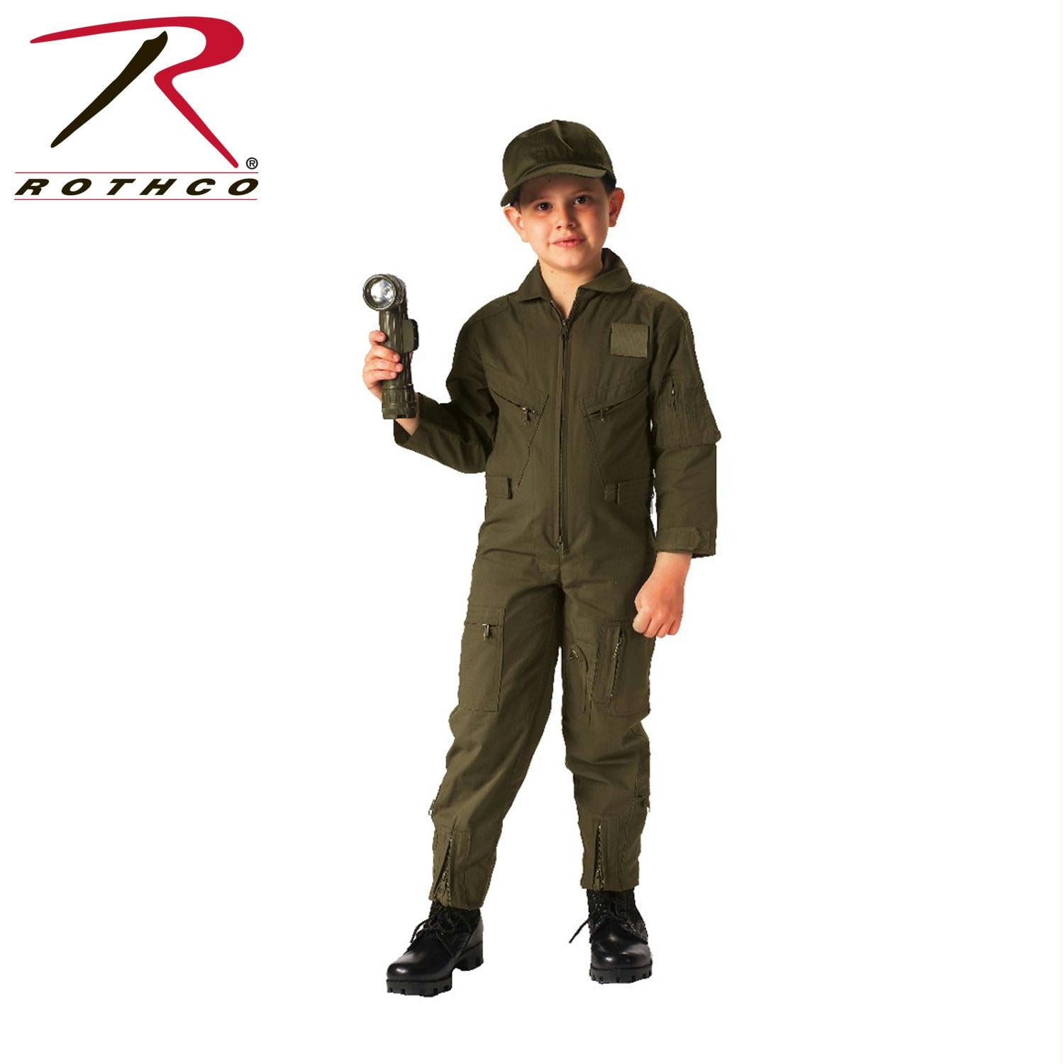 Rothco Kids Air Force Type Flightsuit - Olive Drab / XL