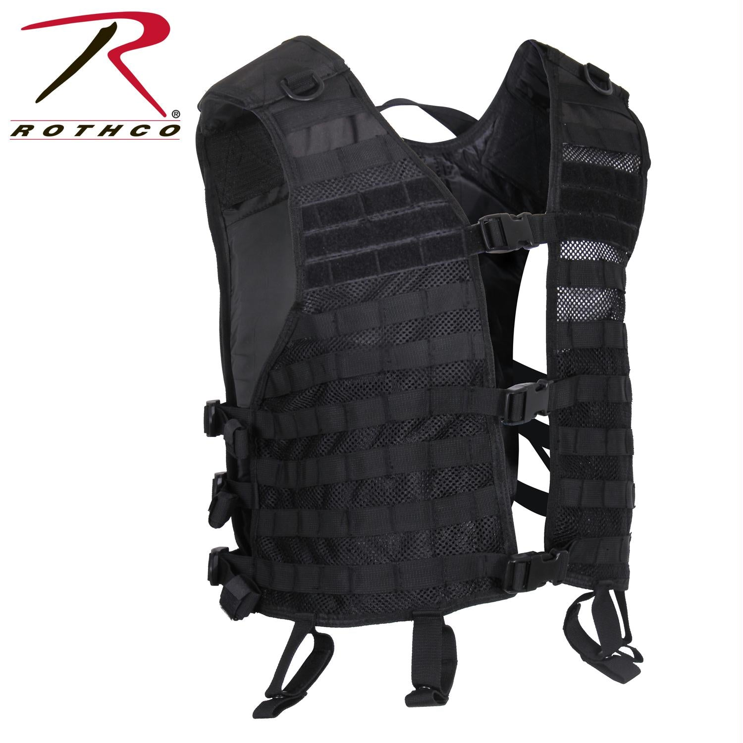 Rothco Lightweight MOLLE Utility Vest - Black