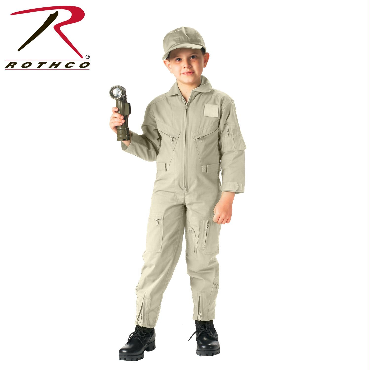 Rothco Kids Air Force Type Flightsuit - Khaki / M