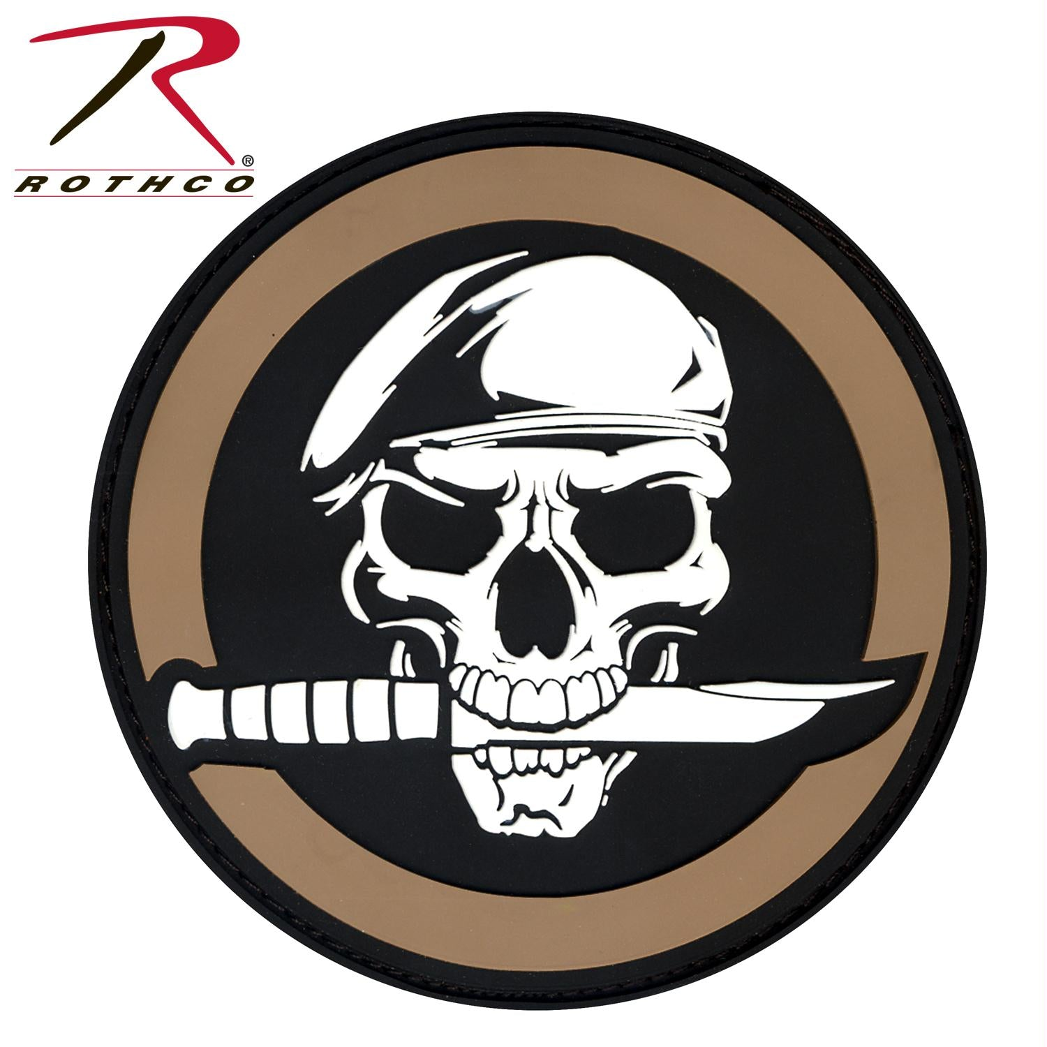 Rothco PVC Military Skull & Knife Morale Patch - One Size