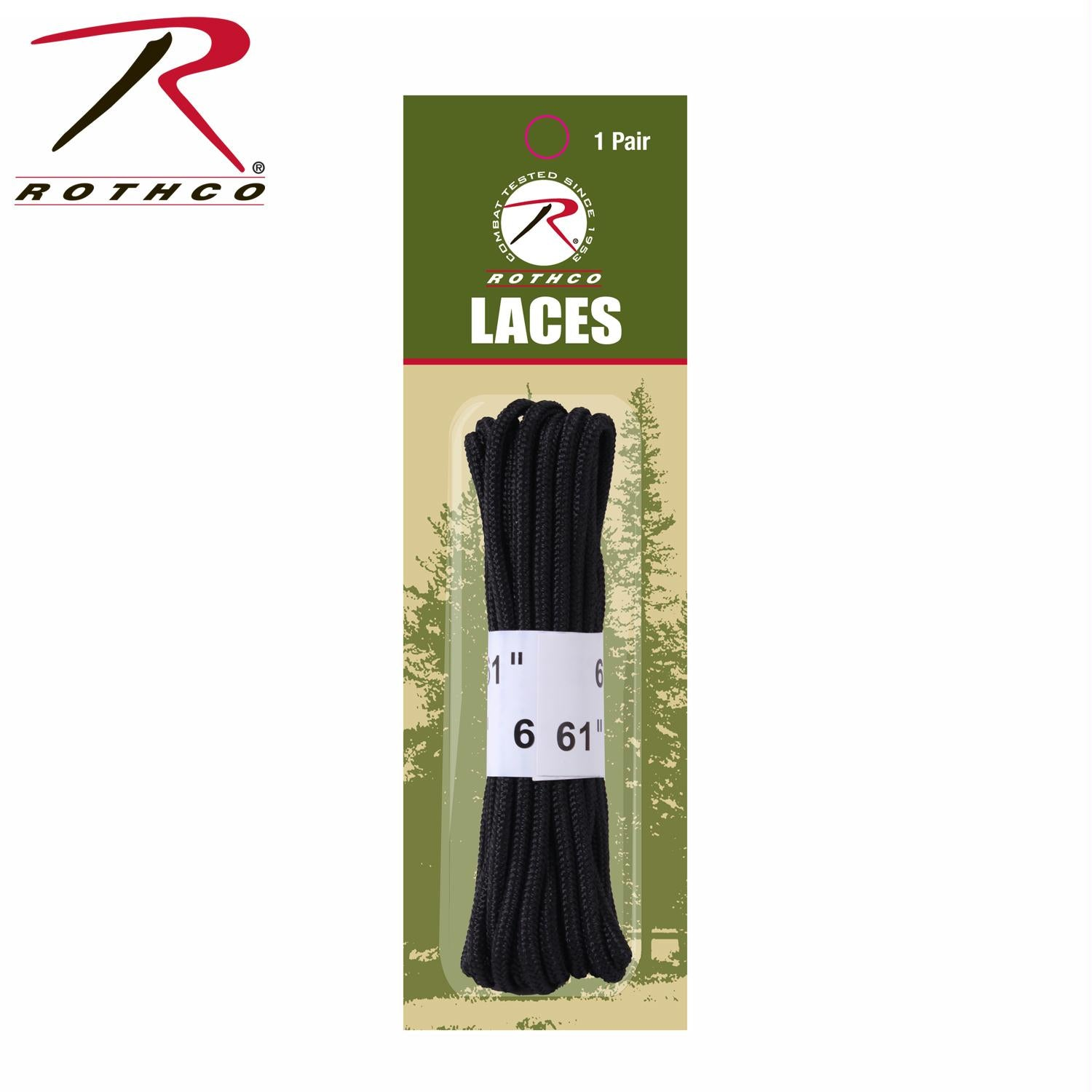 Rothco 61'' Military Boot Laces - Black