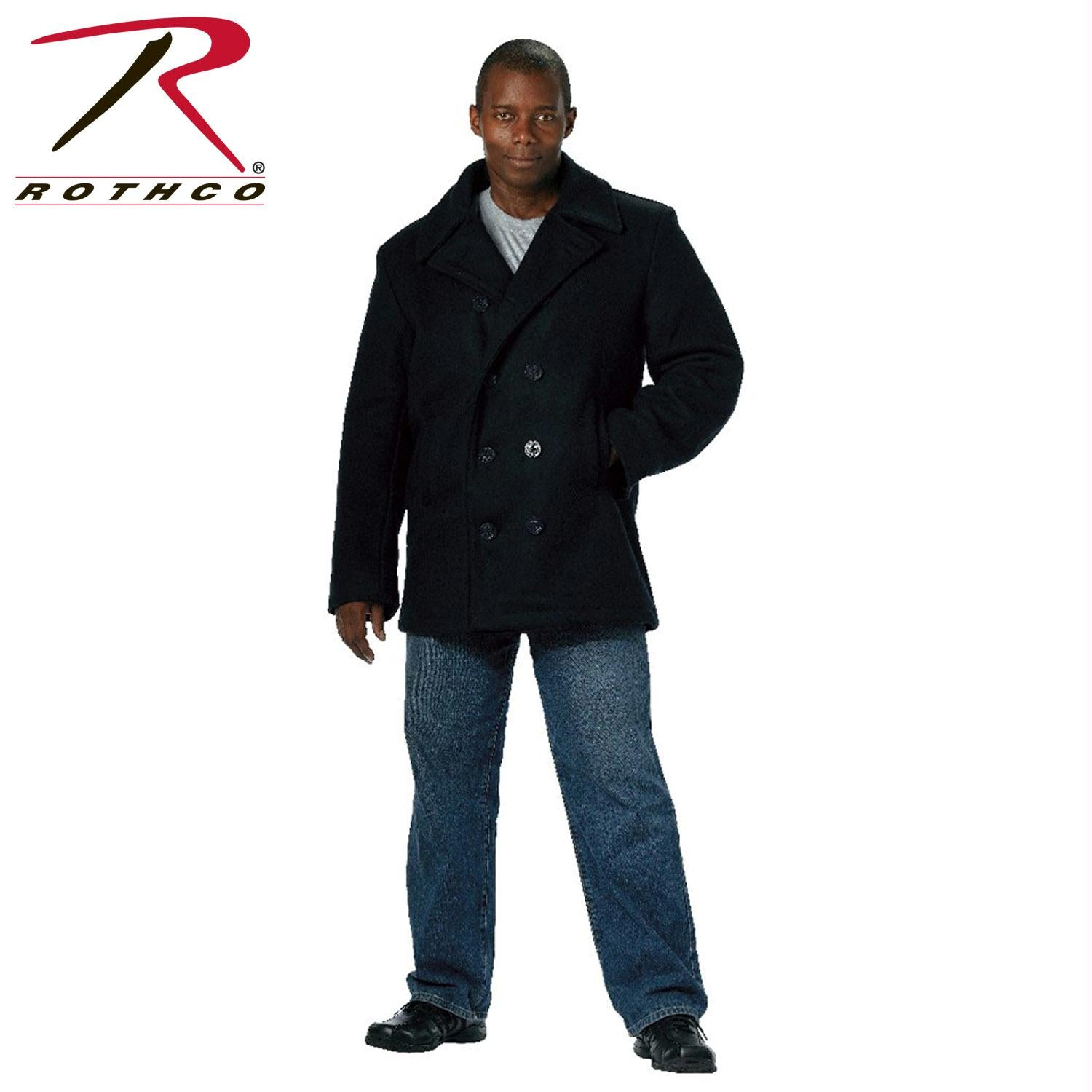 Rothco US Navy Type Pea Coat - Navy Blue / XL