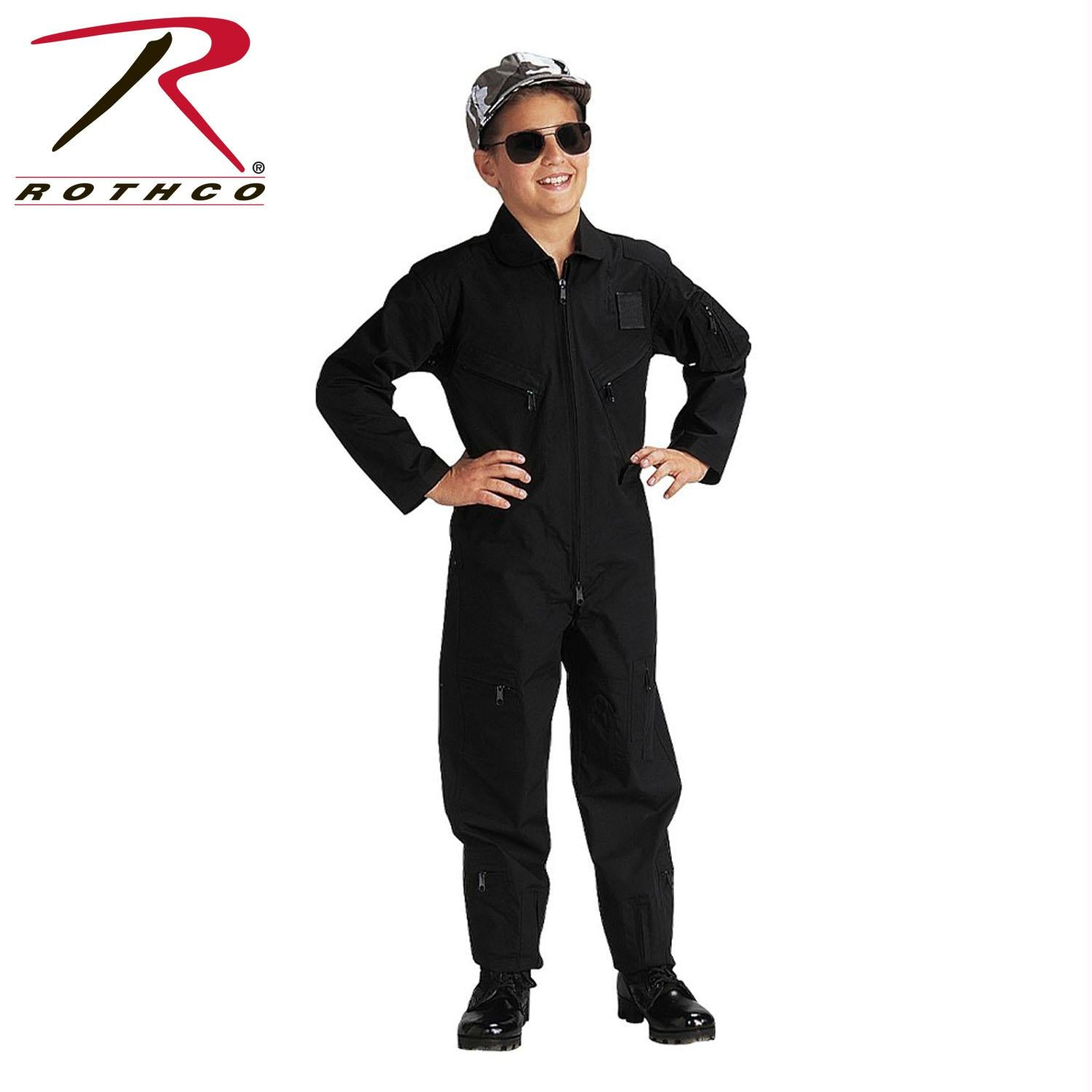 Rothco Kids Air Force Type Flightsuit - Black / S