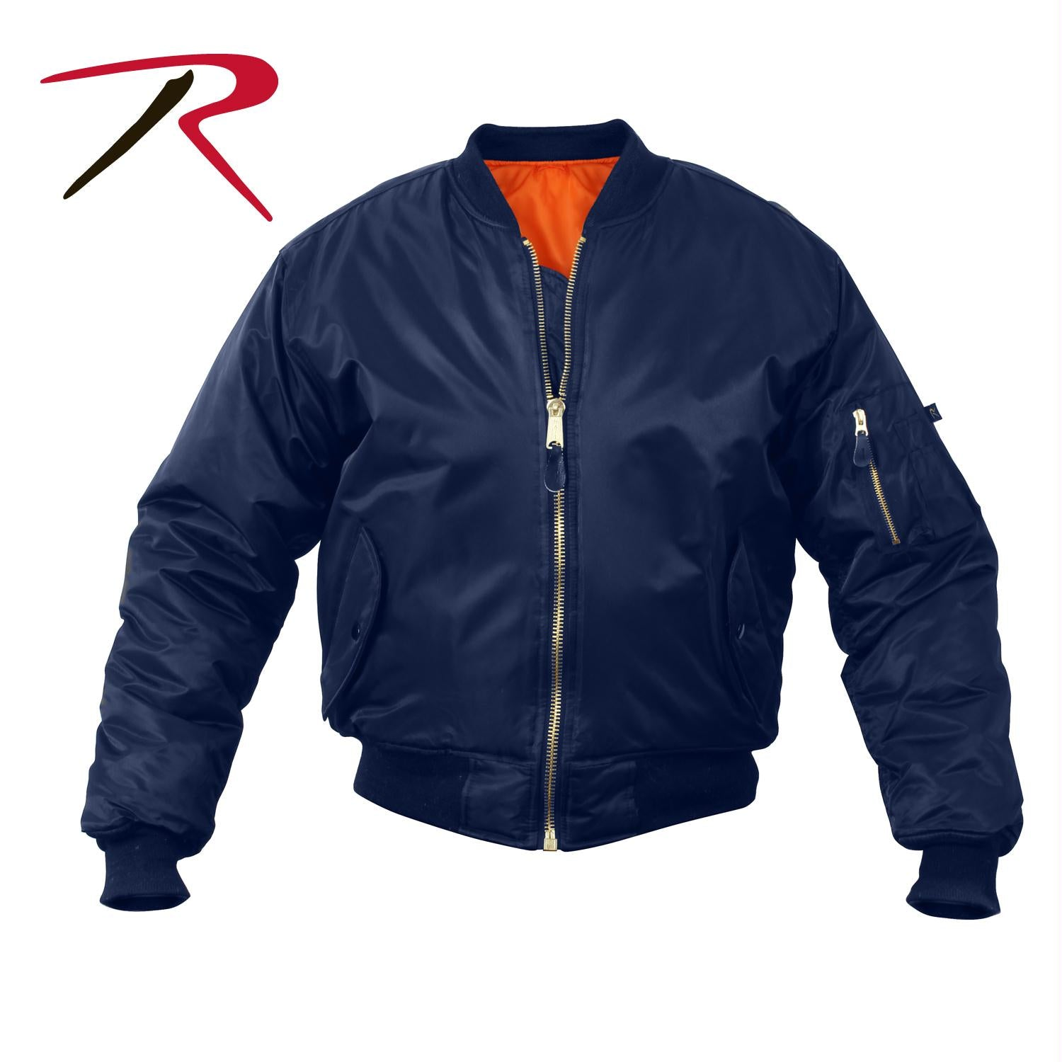 Rothco MA-1 Flight Jacket - Navy Blue / XXS