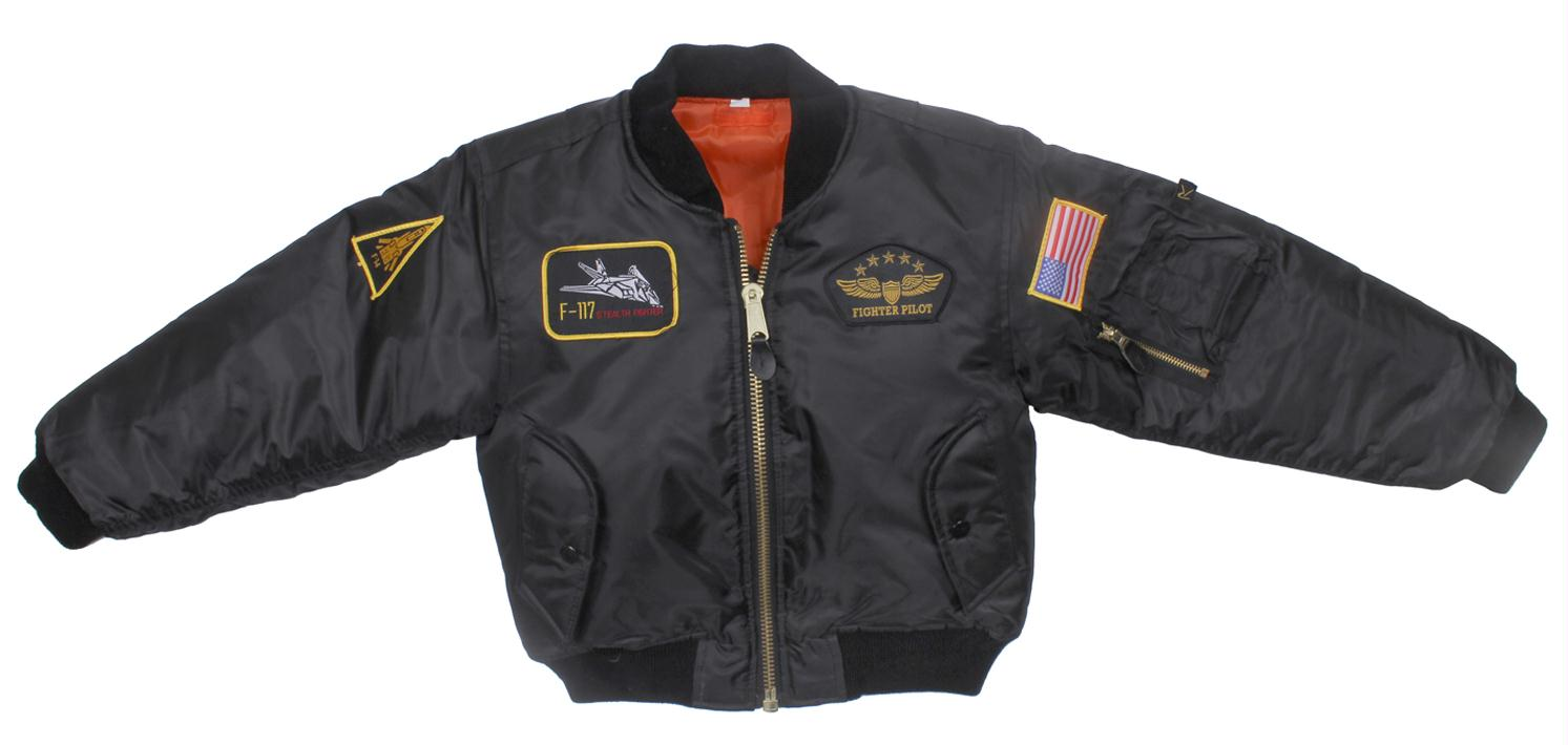 Rothco Kids Flight Jacket With Patches