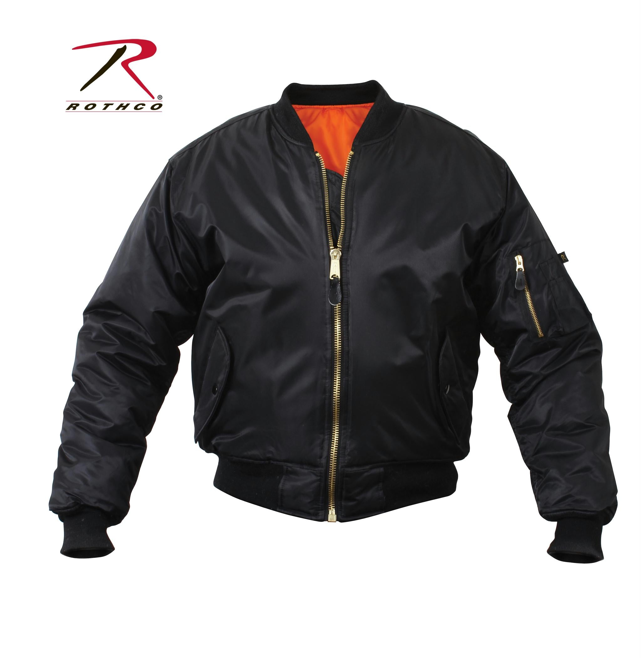 Rothco MA-1 Flight Jacket - Black / 9XL