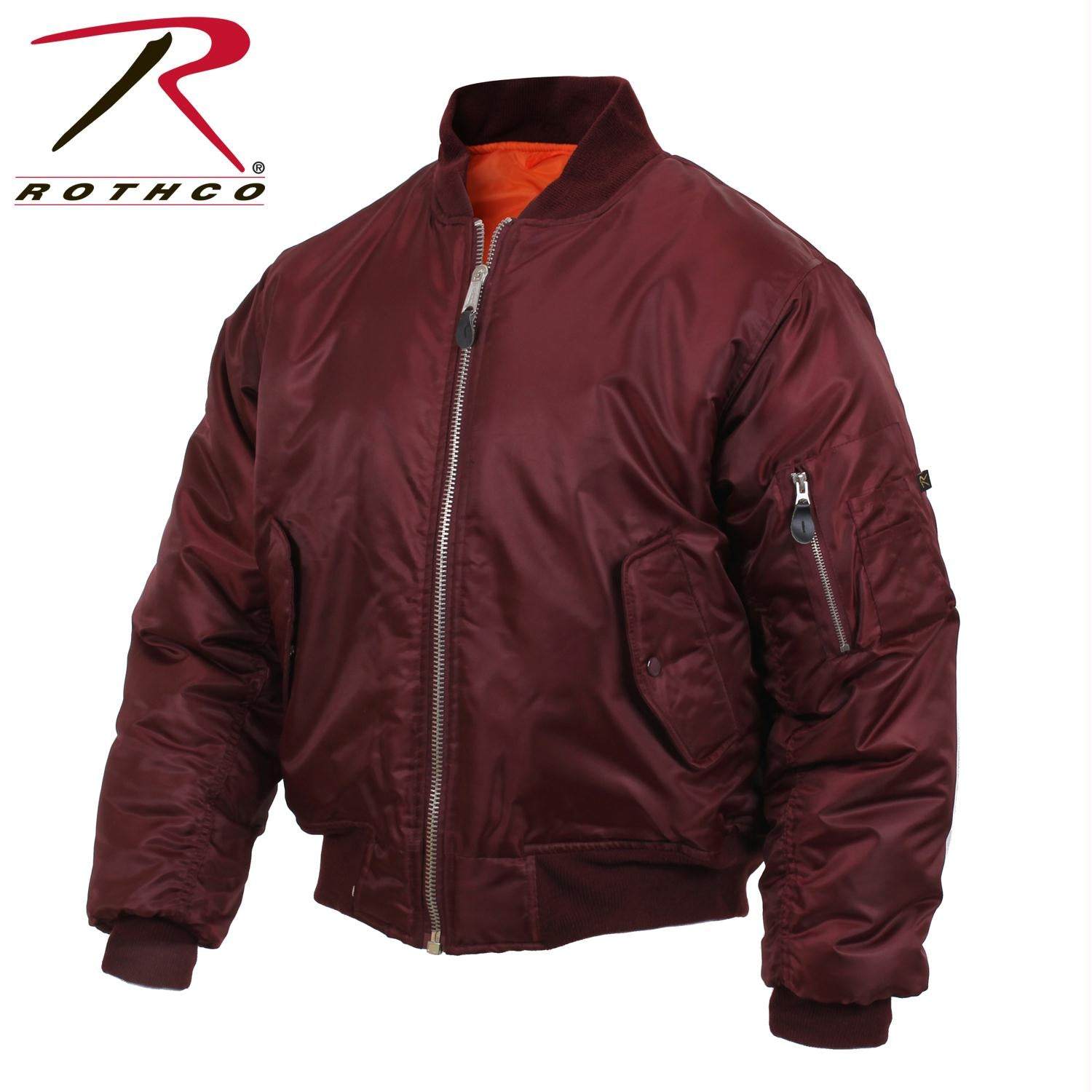 Rothco MA-1 Flight Jacket - Maroon / 4XL