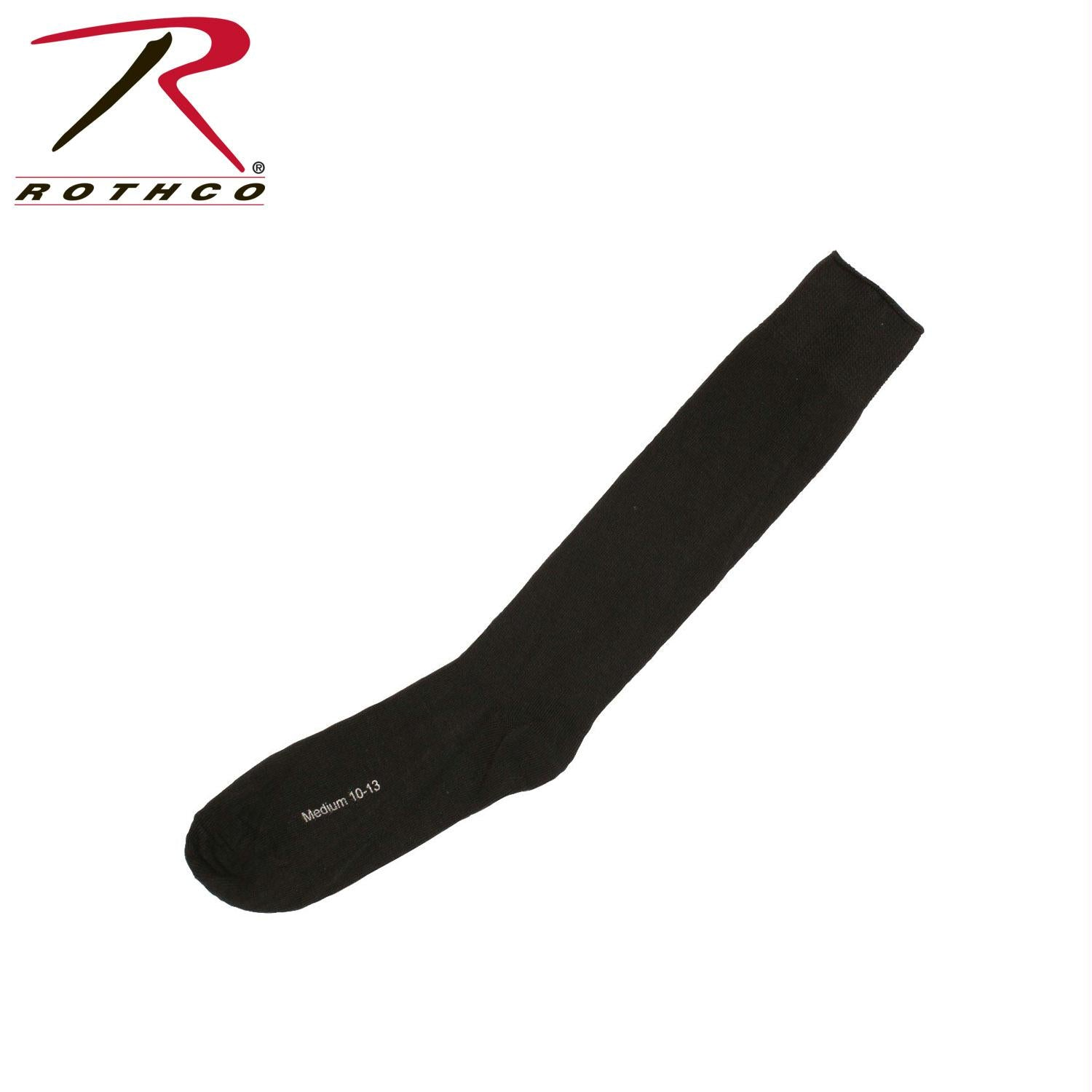 Rothco Black Irregular Polypropylene Socks - L