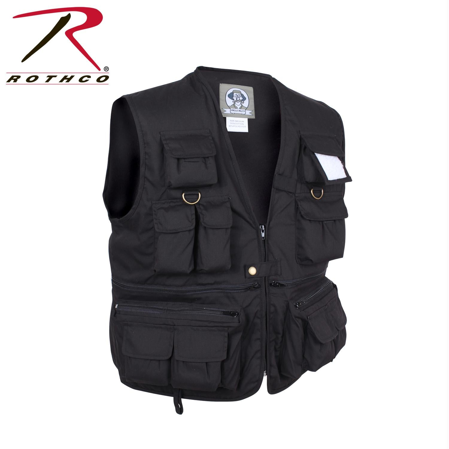 Rothco Uncle Milty Travel Vest - Black / S