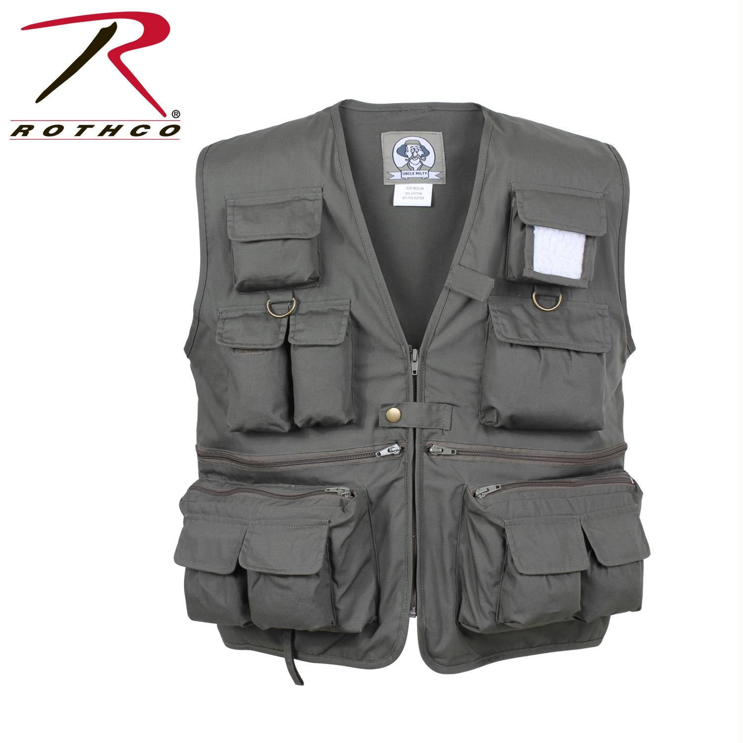Rothco Uncle Milty Travel Vest - Olive Drab / L