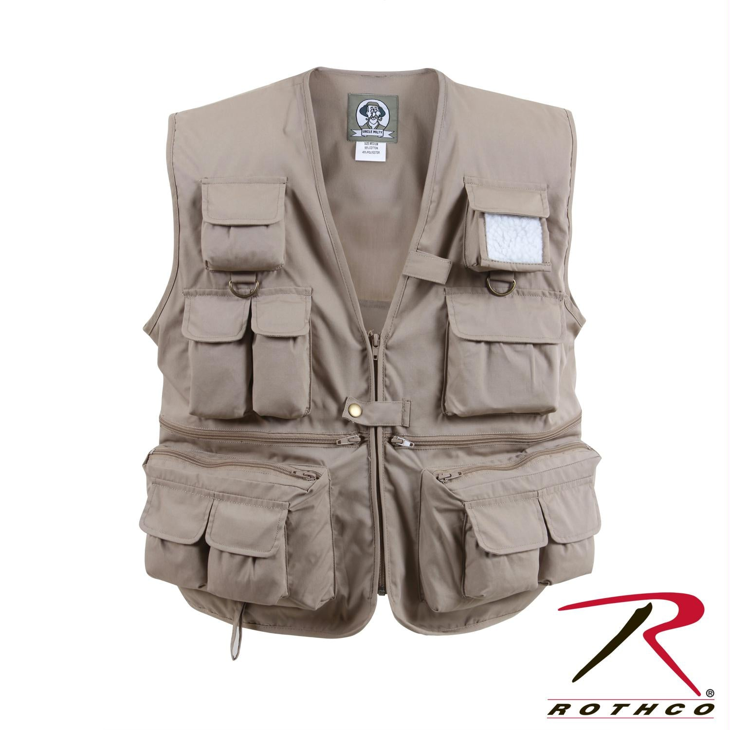 Rothco Uncle Milty Travel Vest - Khaki / S