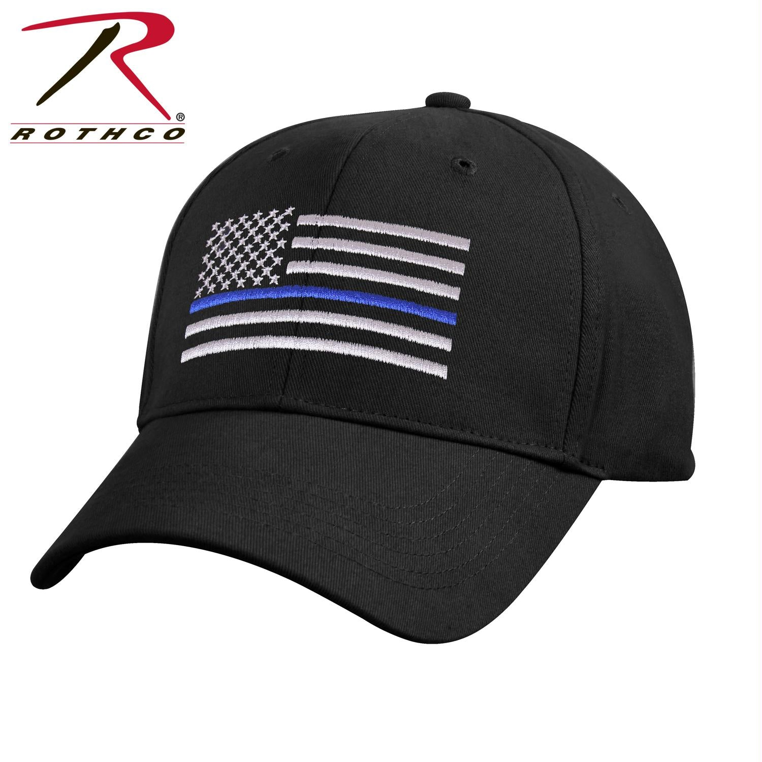 Rothco Kids Low Profile Thin Blue Line Flag Cap - Black / One Size