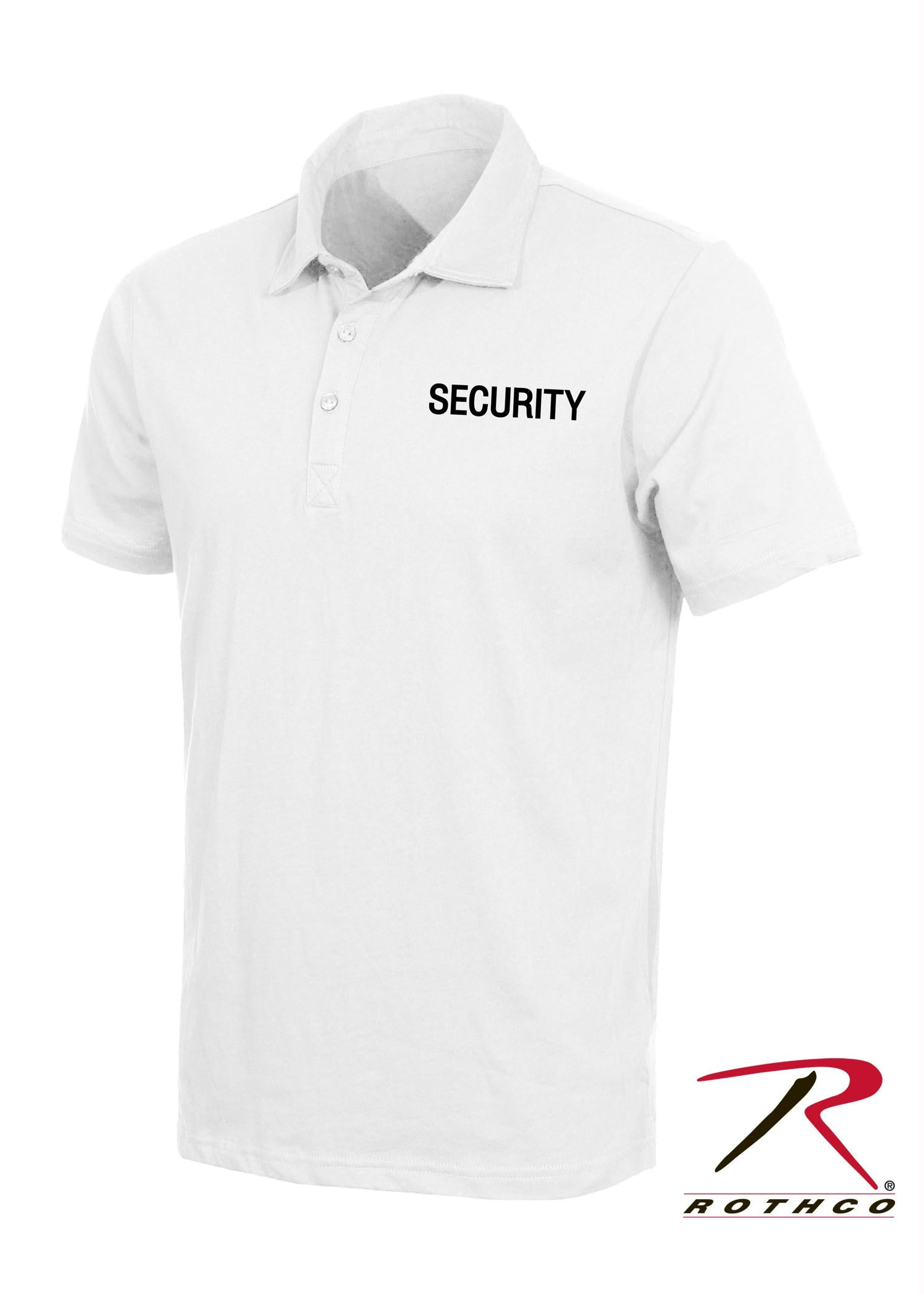 Rothco Law Enforcement Printed Polo Shirts - White / Security / S