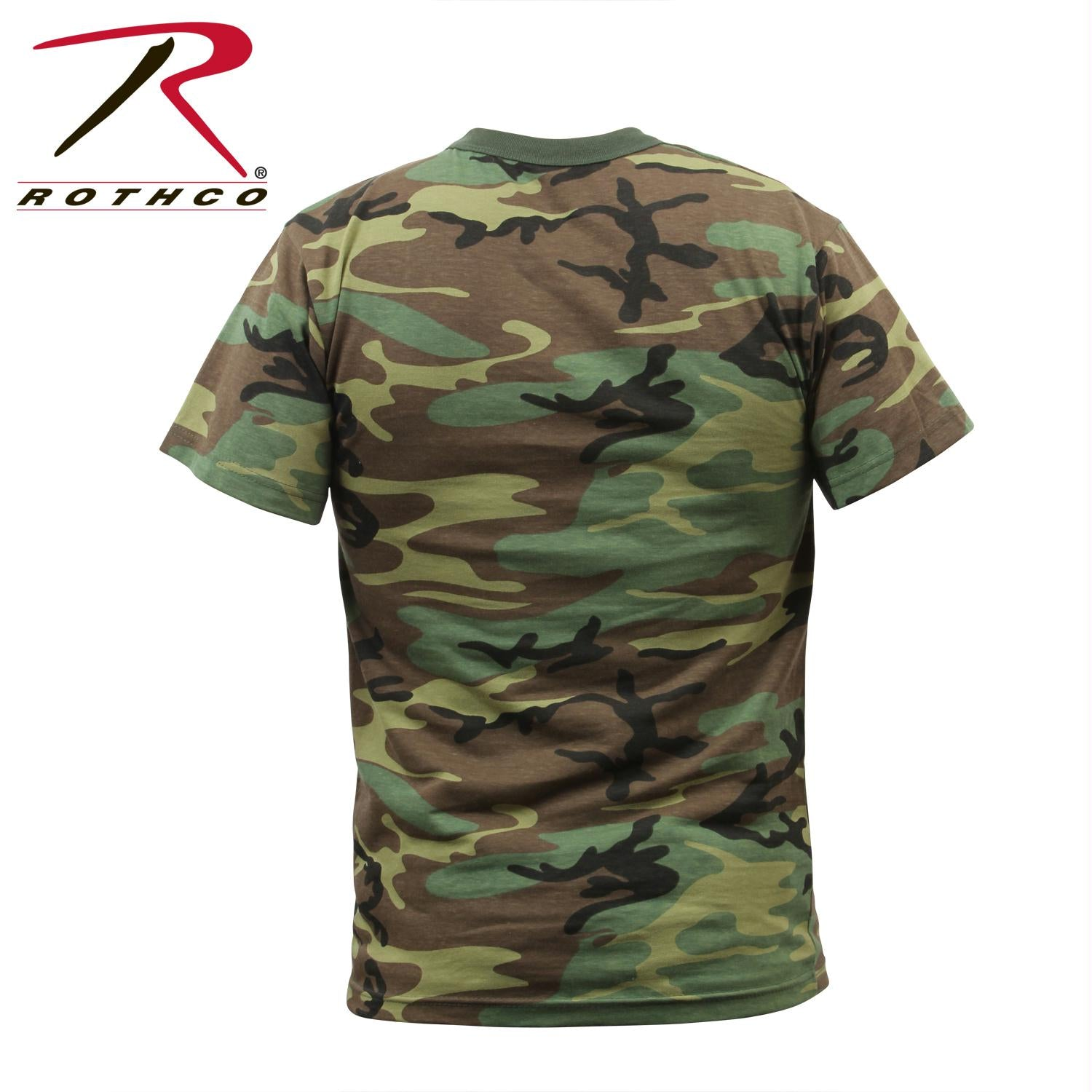 Rothco Childrens Woodland Camo Heavyweight T-Shirt