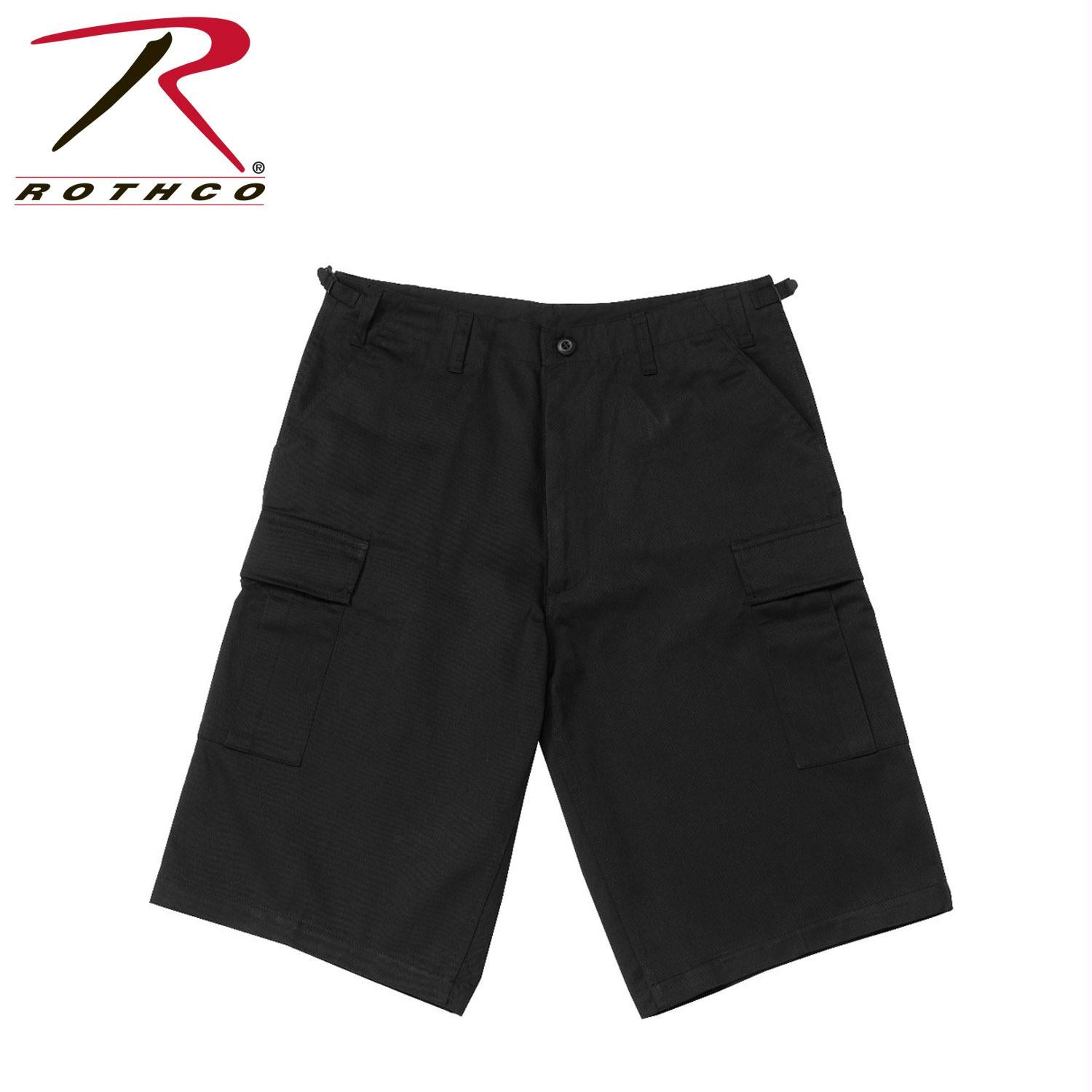 Rothco Long Length BDU Short - Black / 2XL