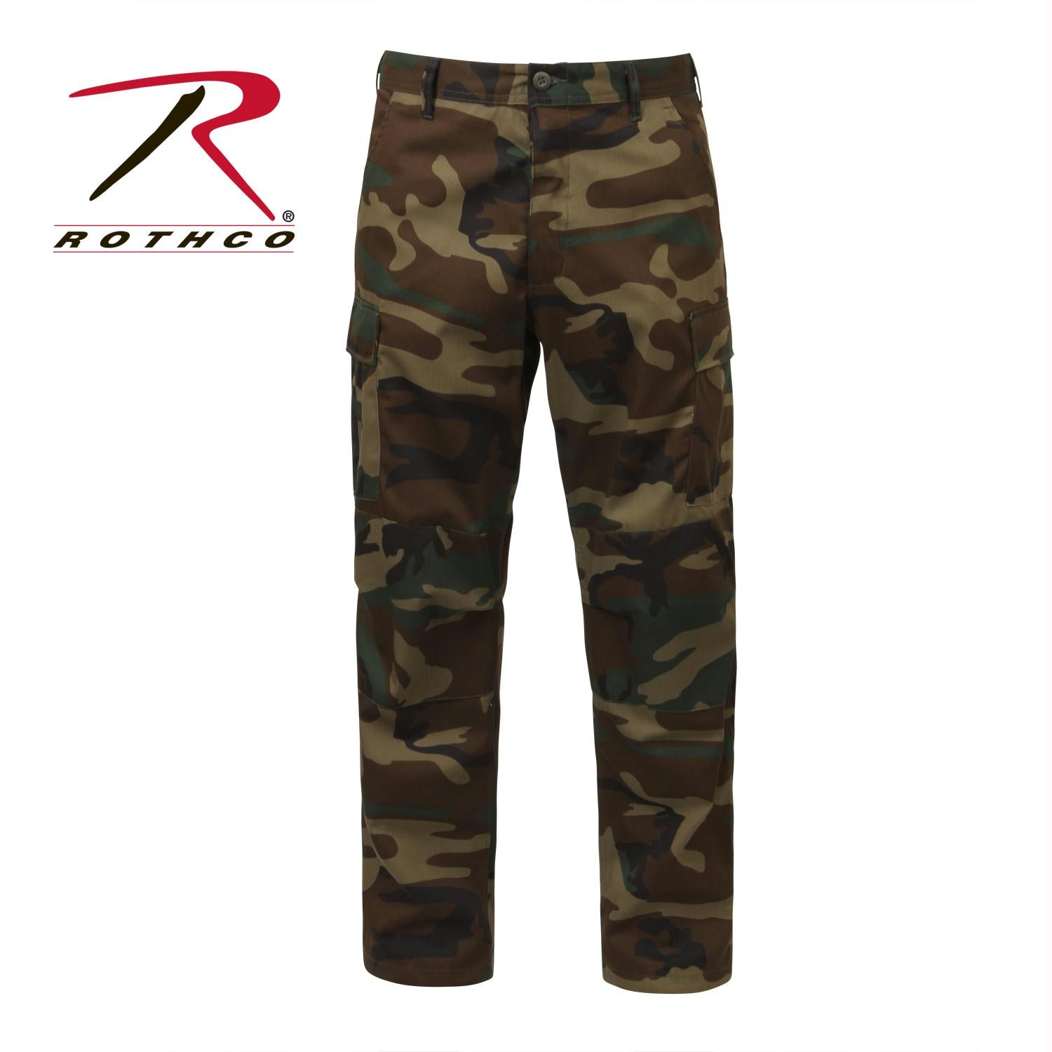 Rothco Camo Tactical BDU Pants - Woodland Camo / 2XL - Long