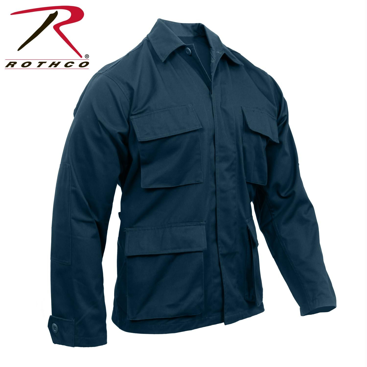 Rothco Poly/Cotton Twill Solid BDU Shirts - Midnight Navy Blue / M