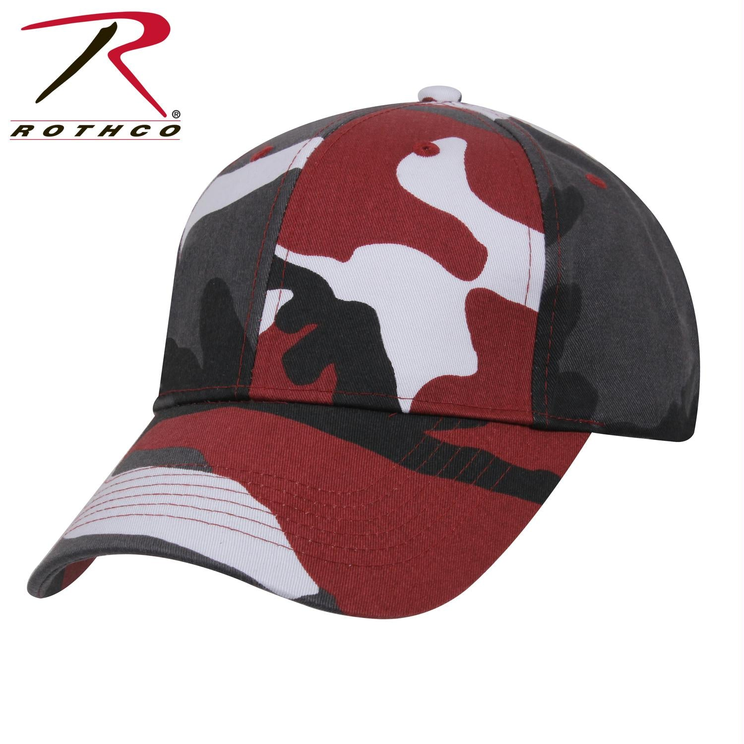 Rothco Supreme Camo Low Profile Cap - Red Camo / One Size