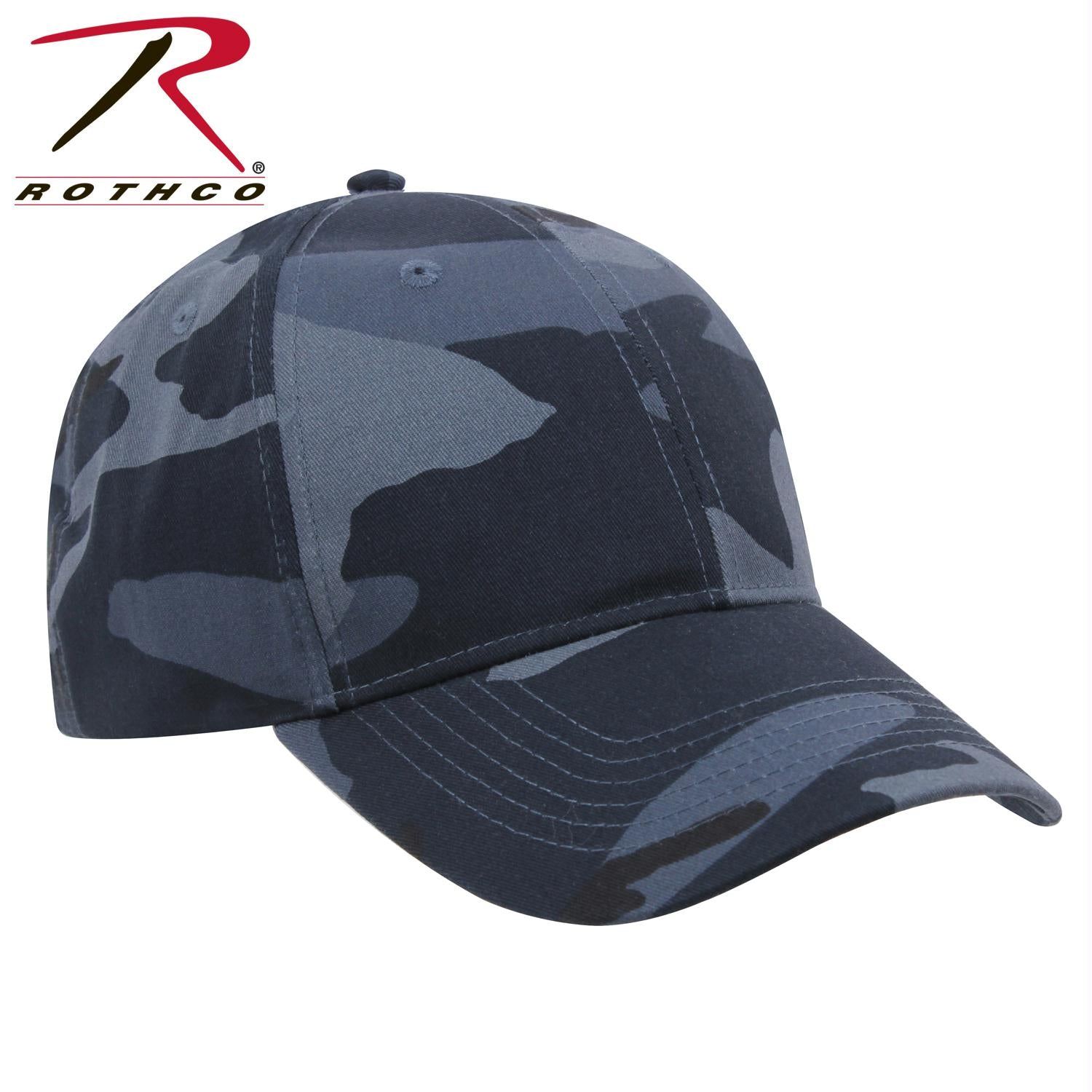 Rothco Supreme Camo Low Profile Cap - Midnight Blue Camo / One Size