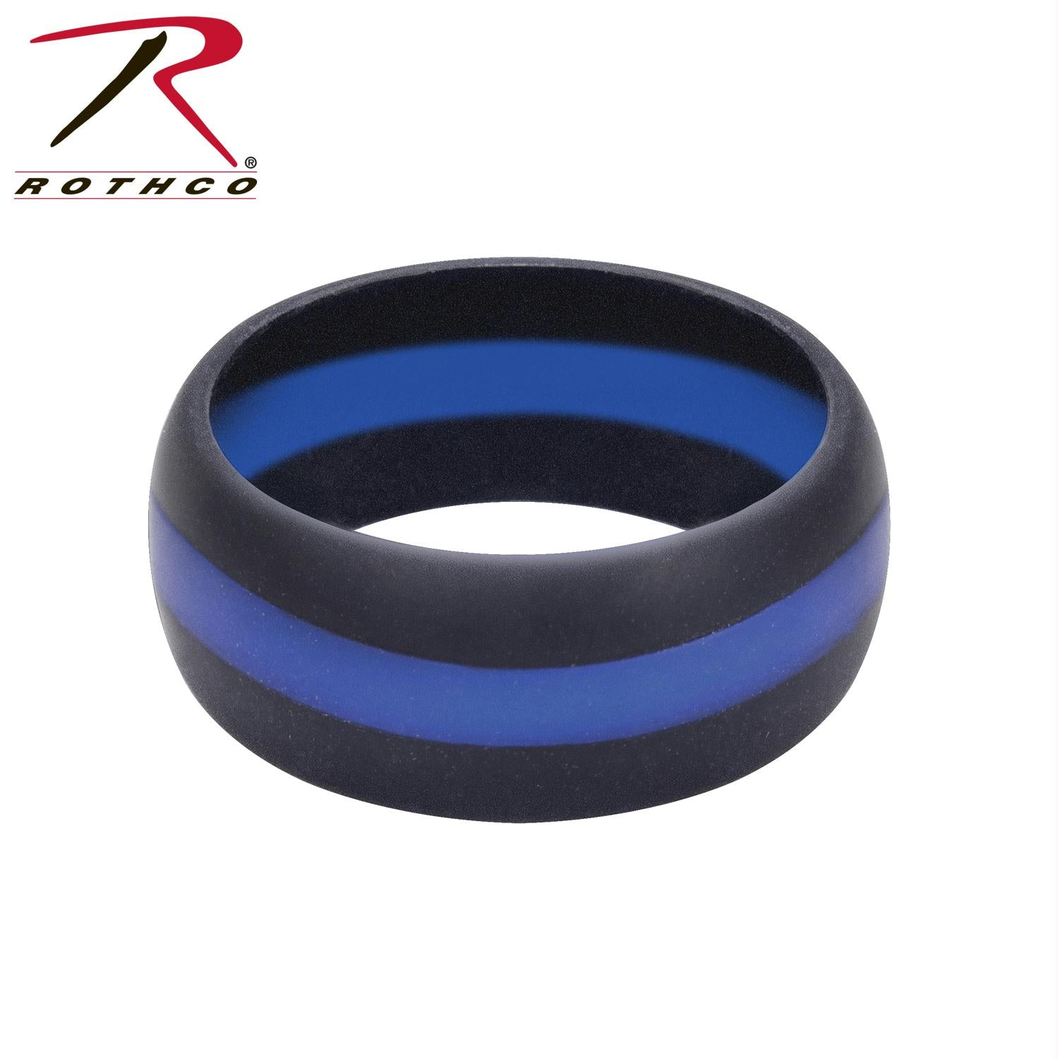 Rothco Thin Blue Line Silicone Ring - 12