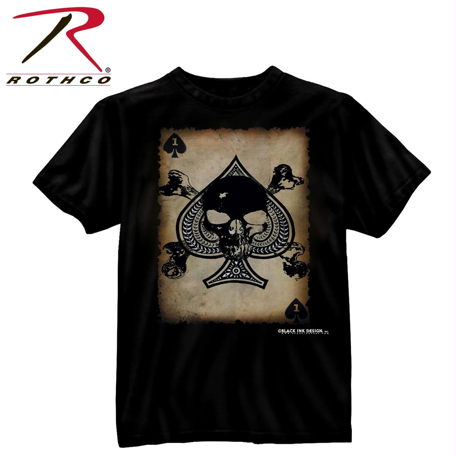 Black Ink 'Death Card' T-Shirt - S
