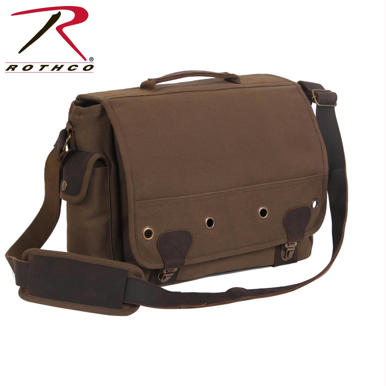 Rothco Canvas Trailblazer Laptop Bag - Earth Brown
