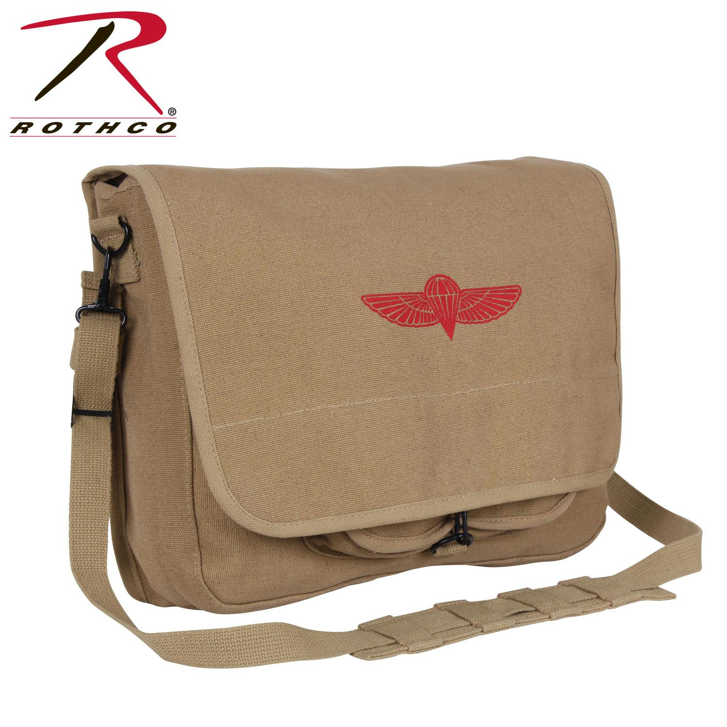 Rothco Canvas Israeli Paratrooper Bag - Khaki
