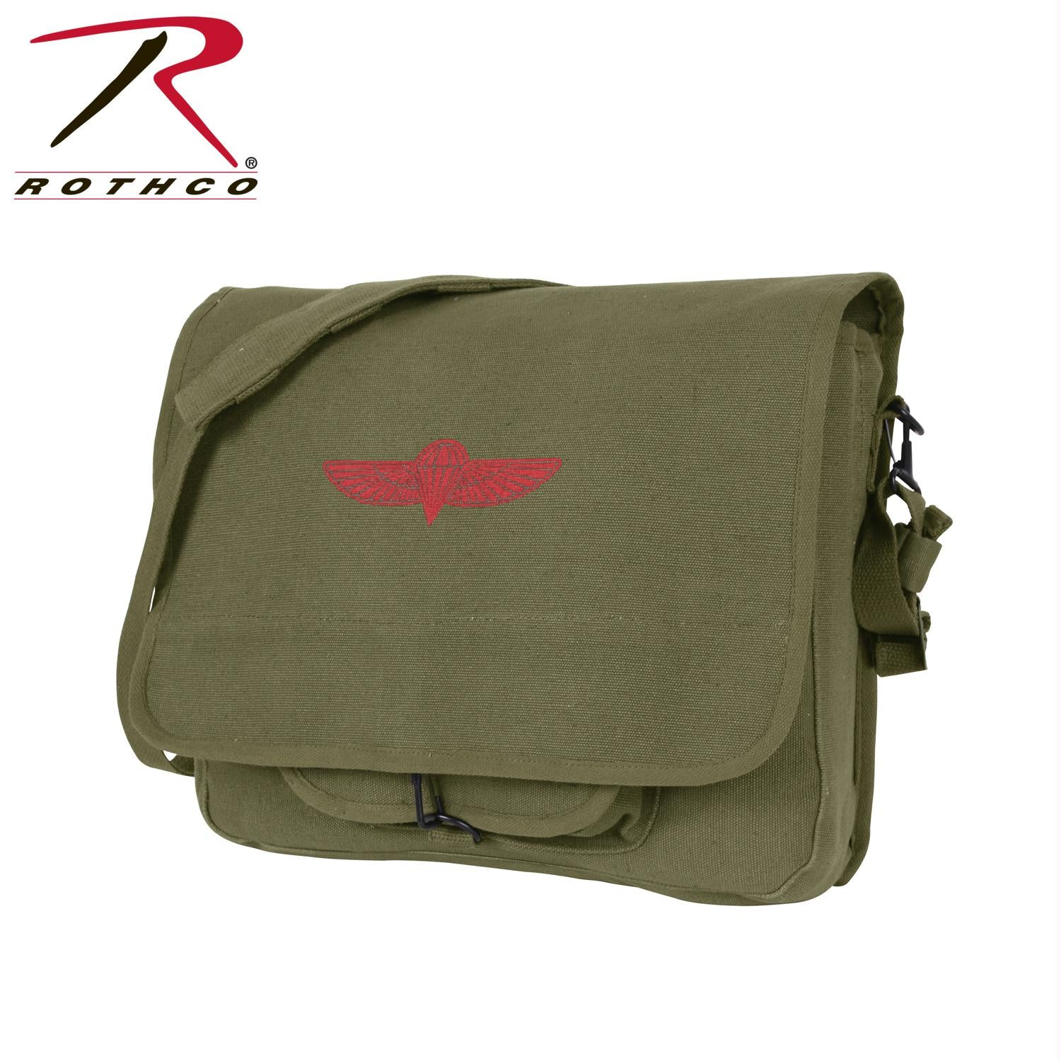 Rothco Canvas Israeli Paratrooper Bag - Olive Drab