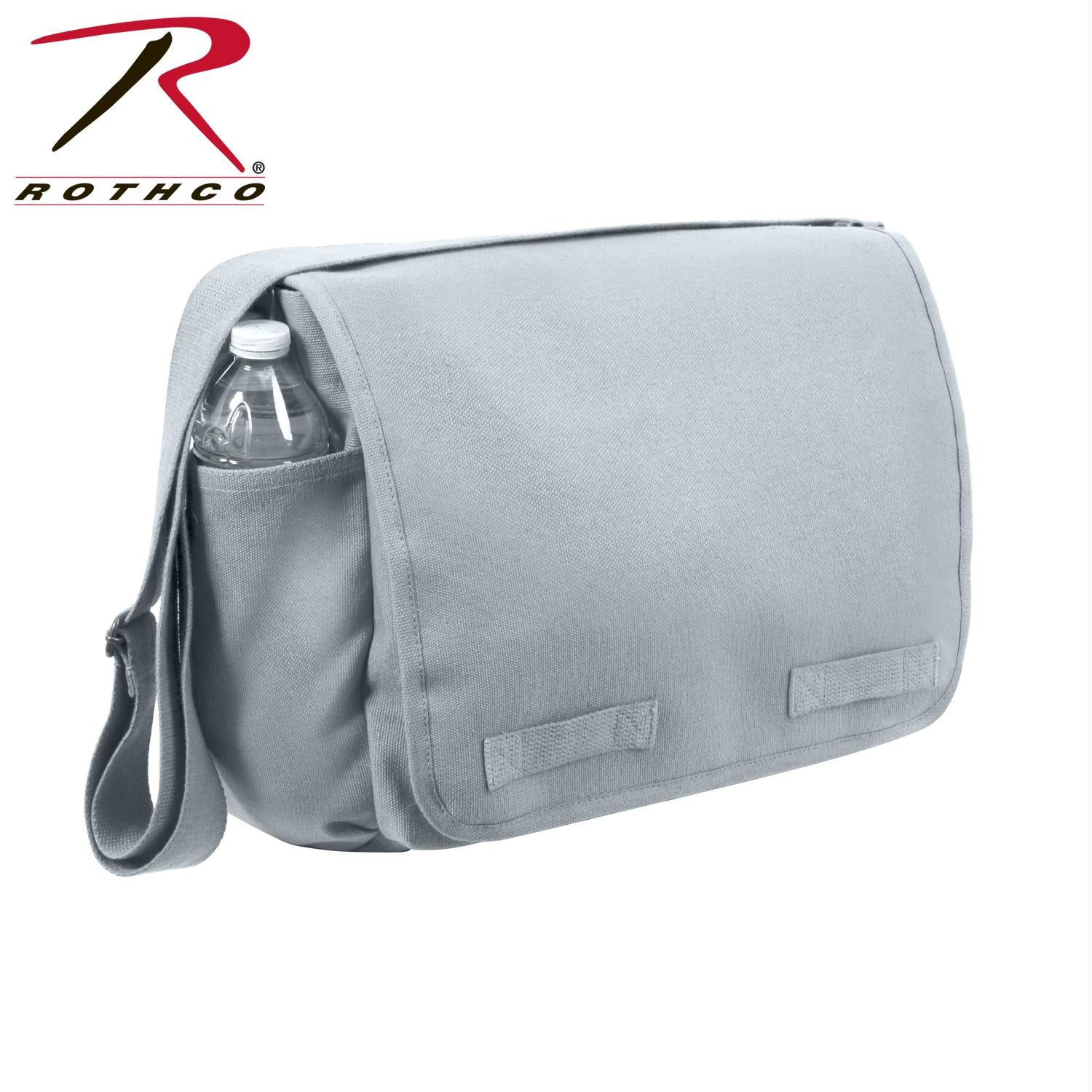 Rothco Vintage Unwashed Canvas Messenger Bag - Grey