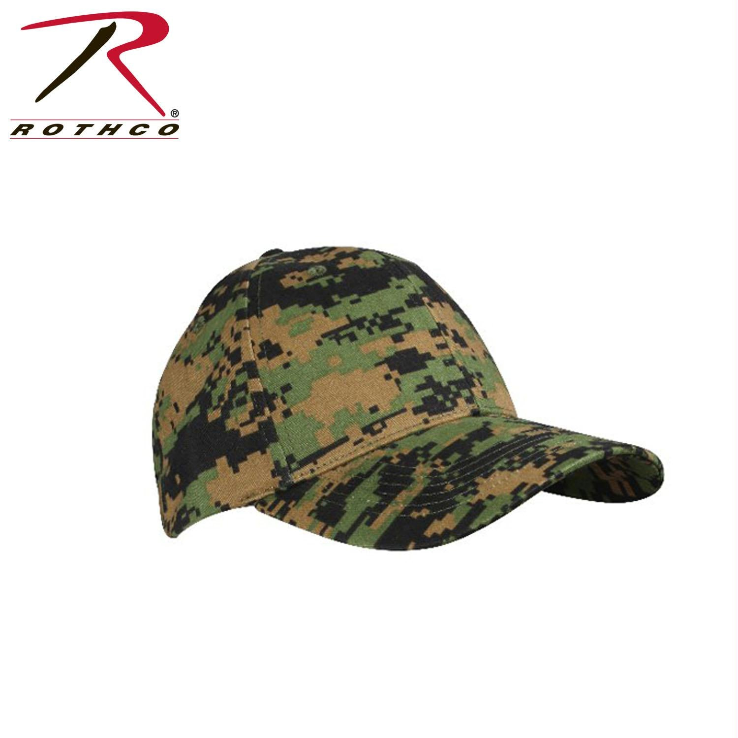Rothco Supreme Camo Low Profile Cap - Woodland Digital Camo / One Size
