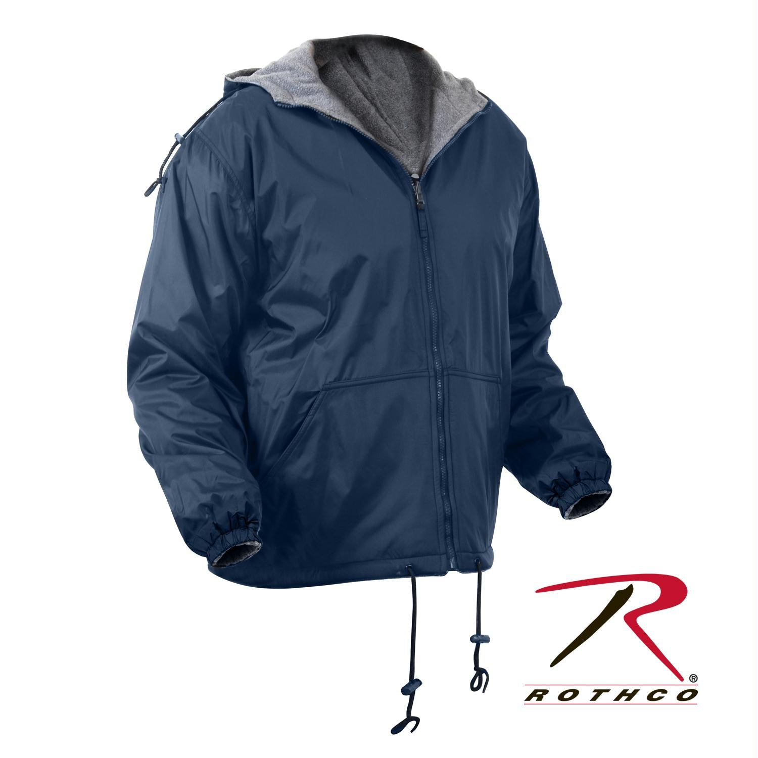 Rothco Reversible Lined Jacket With Hood - Navy Blue / 3XL